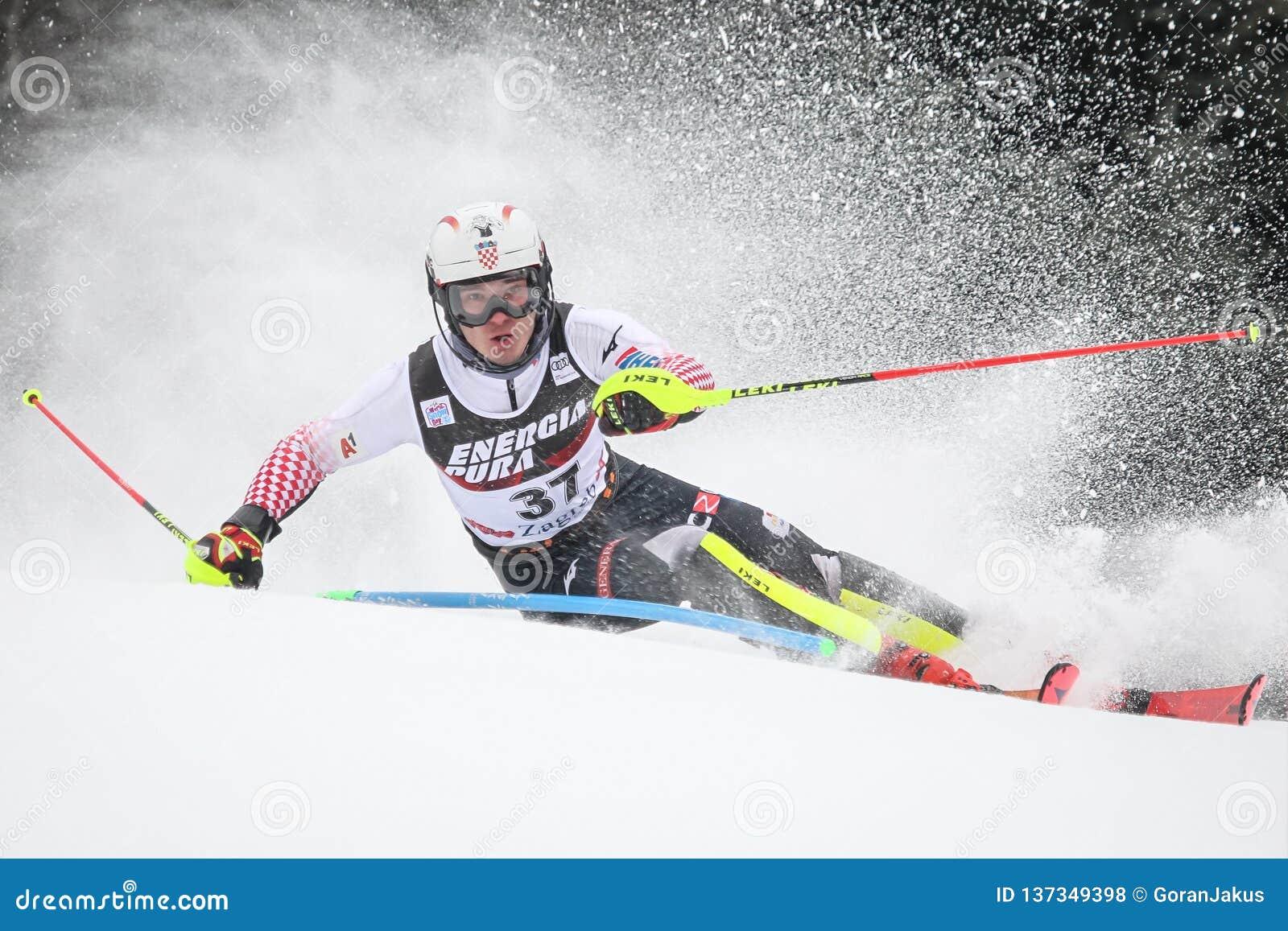 Der Slalom der Männer der Schnee-Königin-Trophäen-2019