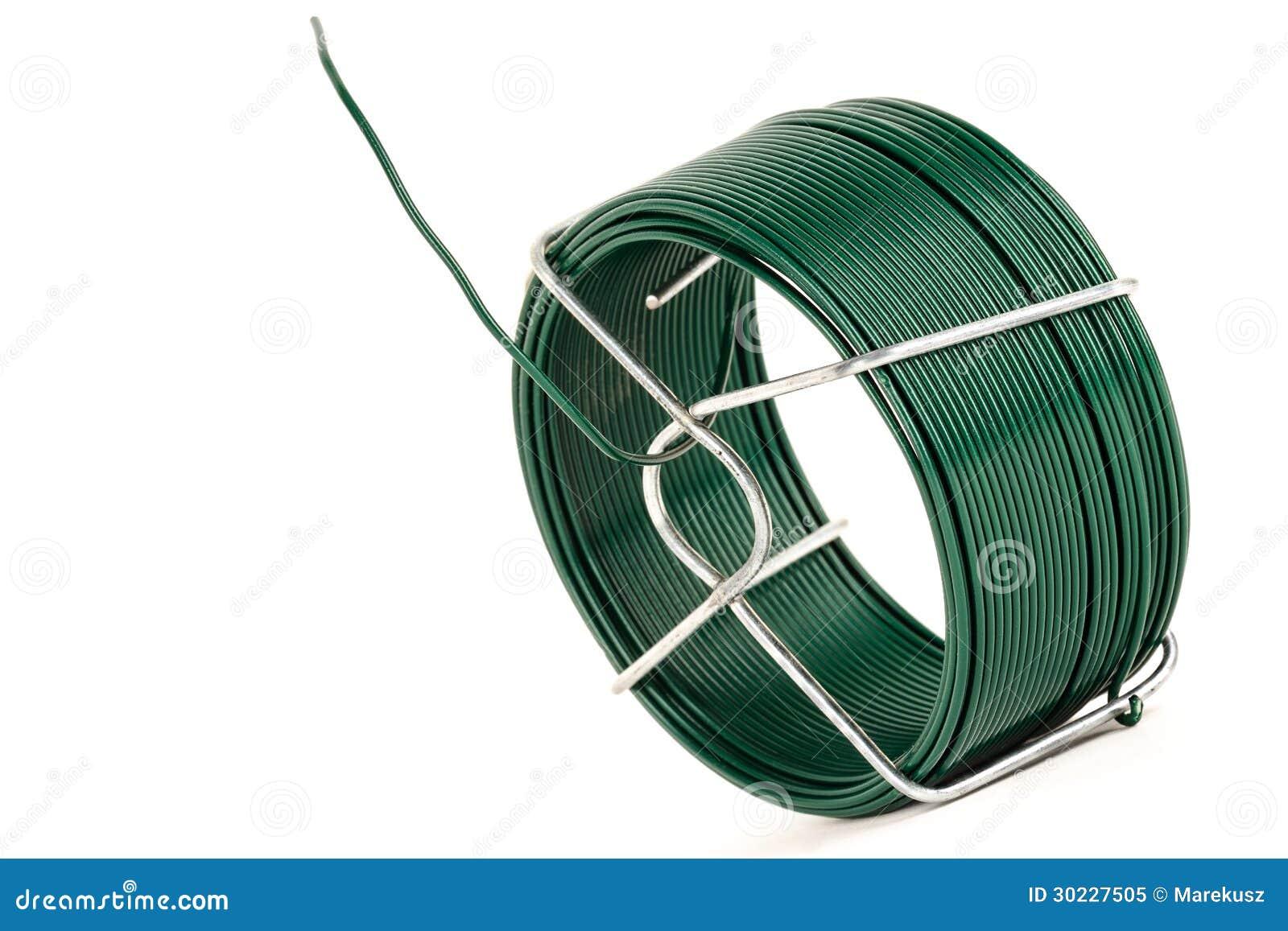Draht Bedeckt Mit Grünem Plastik Stockbild - Bild von unternehmen ...