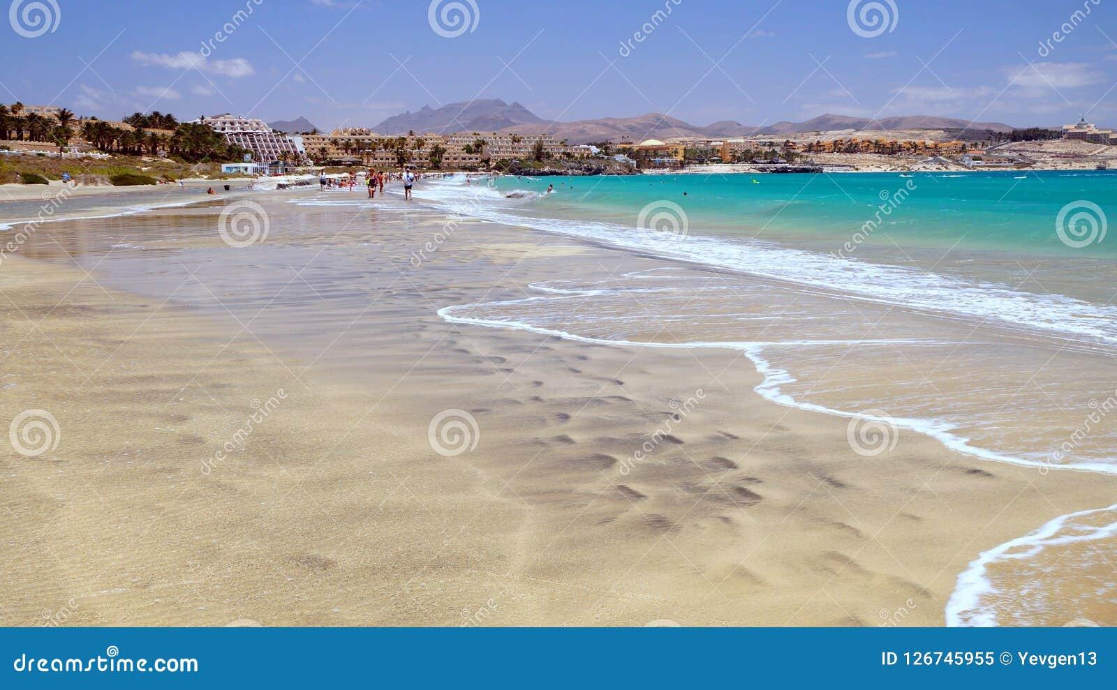 Der Strand In Costa Calma Erholungsort Fuerteventura Kanarische