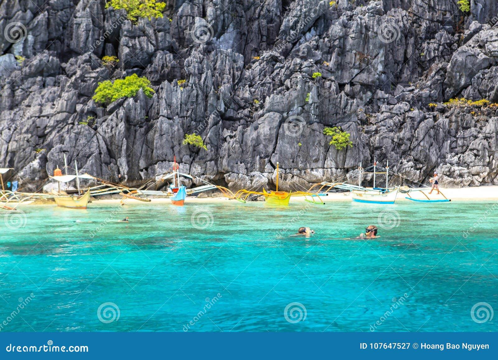 Der Strand von EL Nido, Philippinen