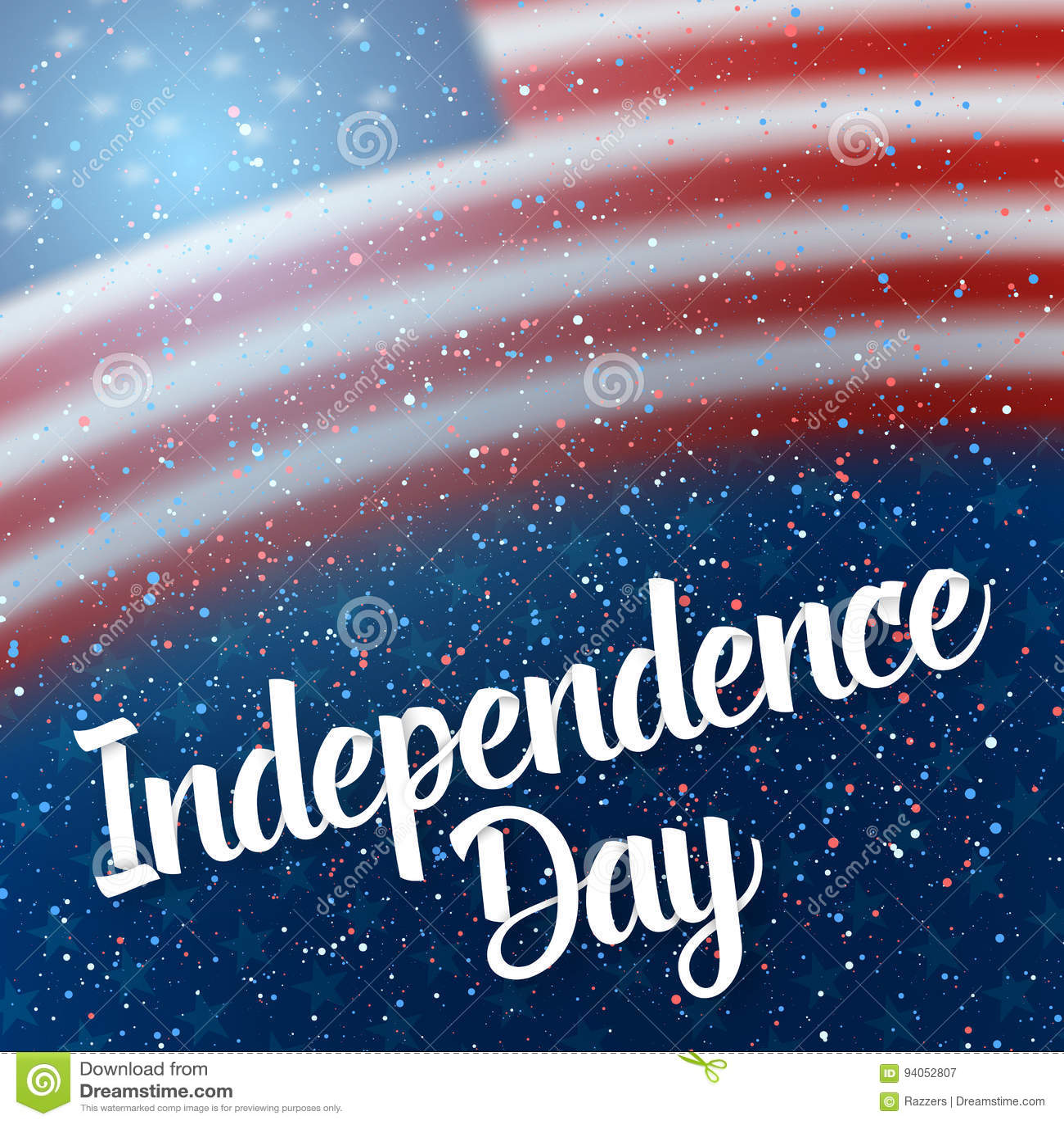 Der Tag Von Unabhängigkeit Von USA Vector Plakat Vektor Abbildung ...