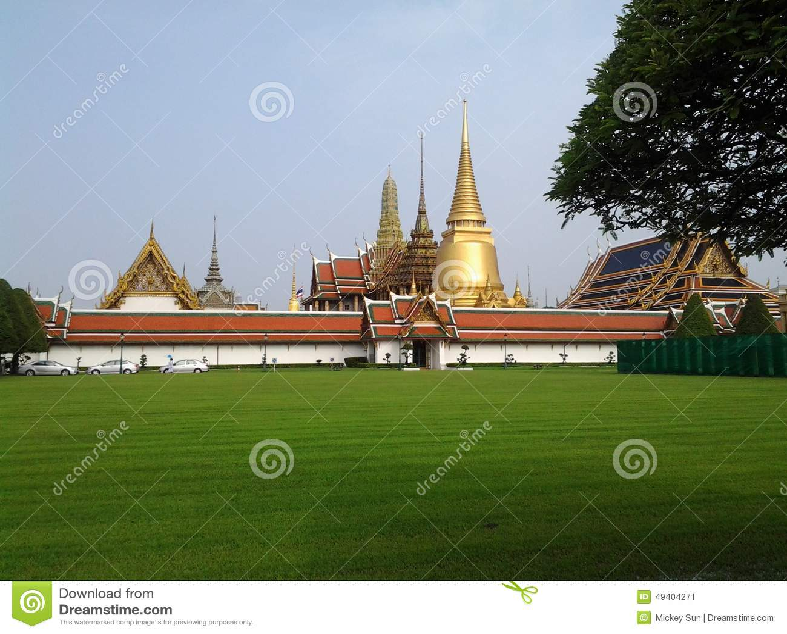 Download Der Tempel stockbild. Bild von grün, thailand, buddha - 49404271