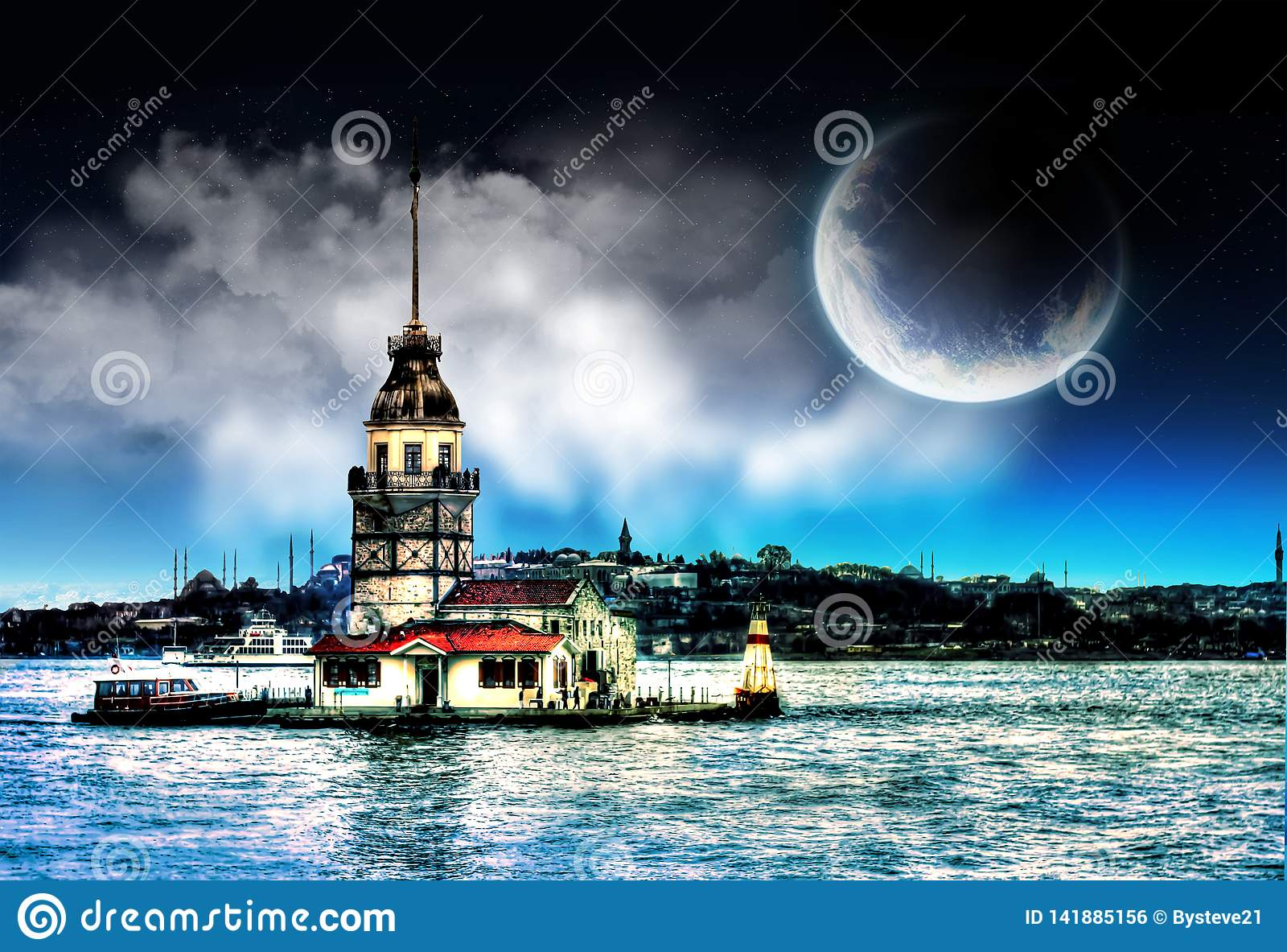 Der Turm des Mädchens in Istanbul die Türkei