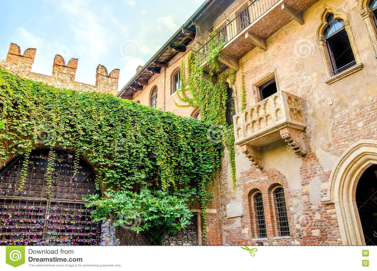 Der Ursprungliche Romeo Und Juliet Balkon Gelegen In Verona
