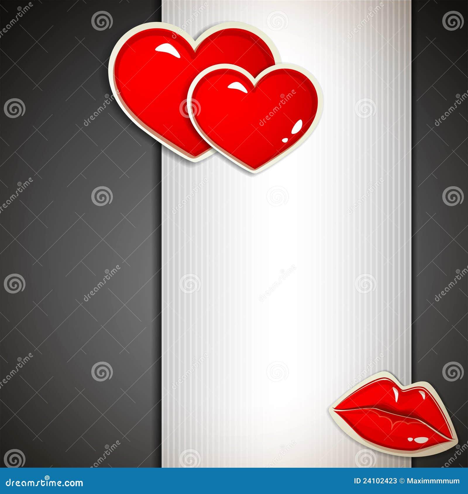 Der Valentinstag Einladungskarte Stock Abbildung Illustration Von