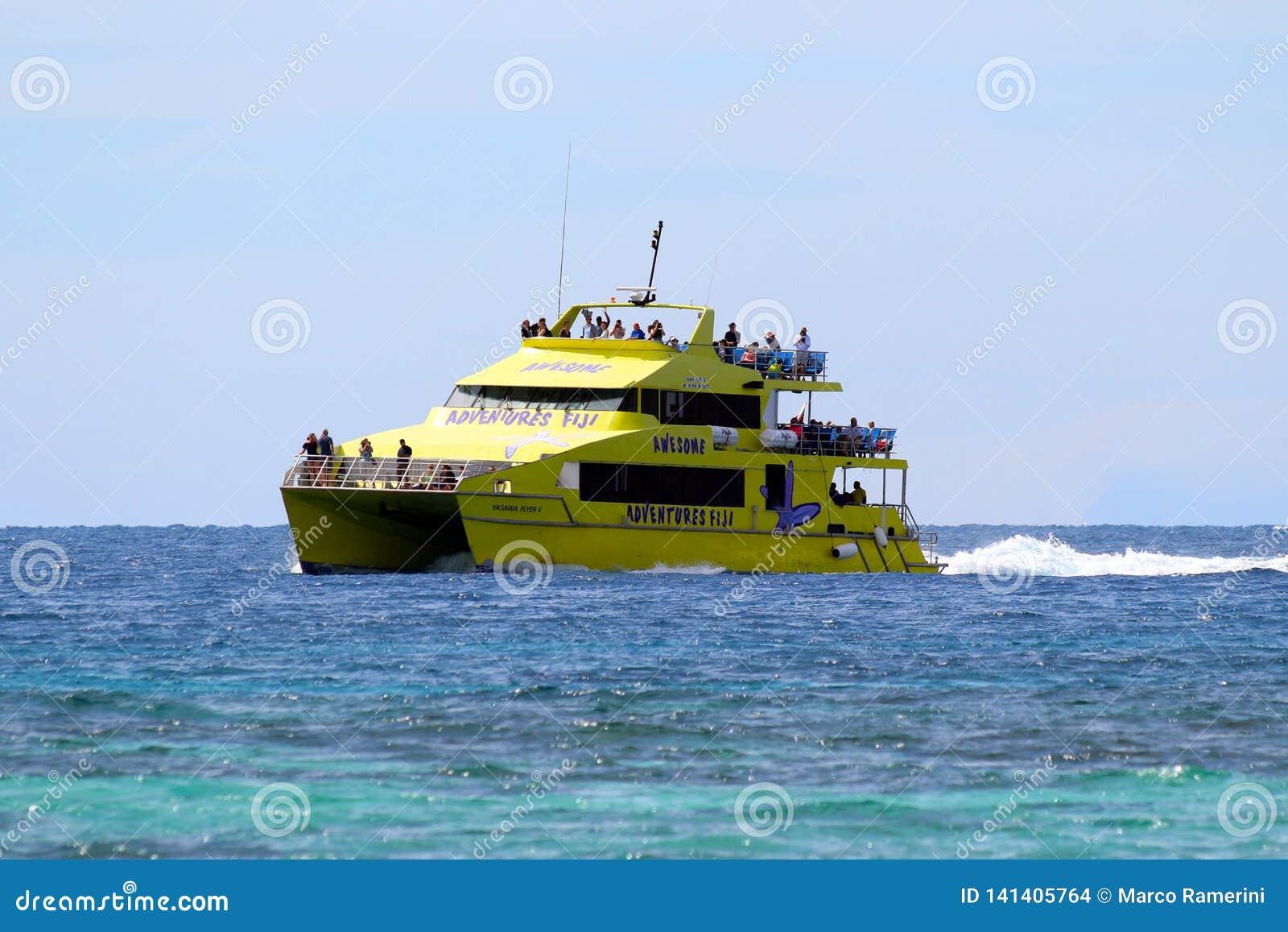 Der Yasawa-Flieger schließt die meisten Yasawa-Inseln, Fidschi an