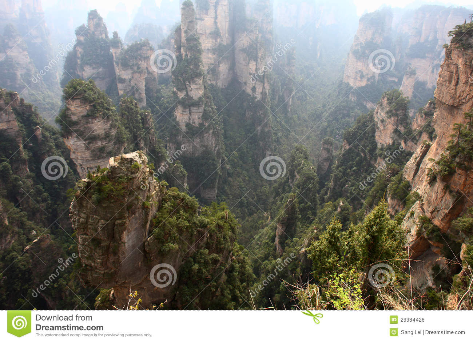 Zhangjiajie-Berge