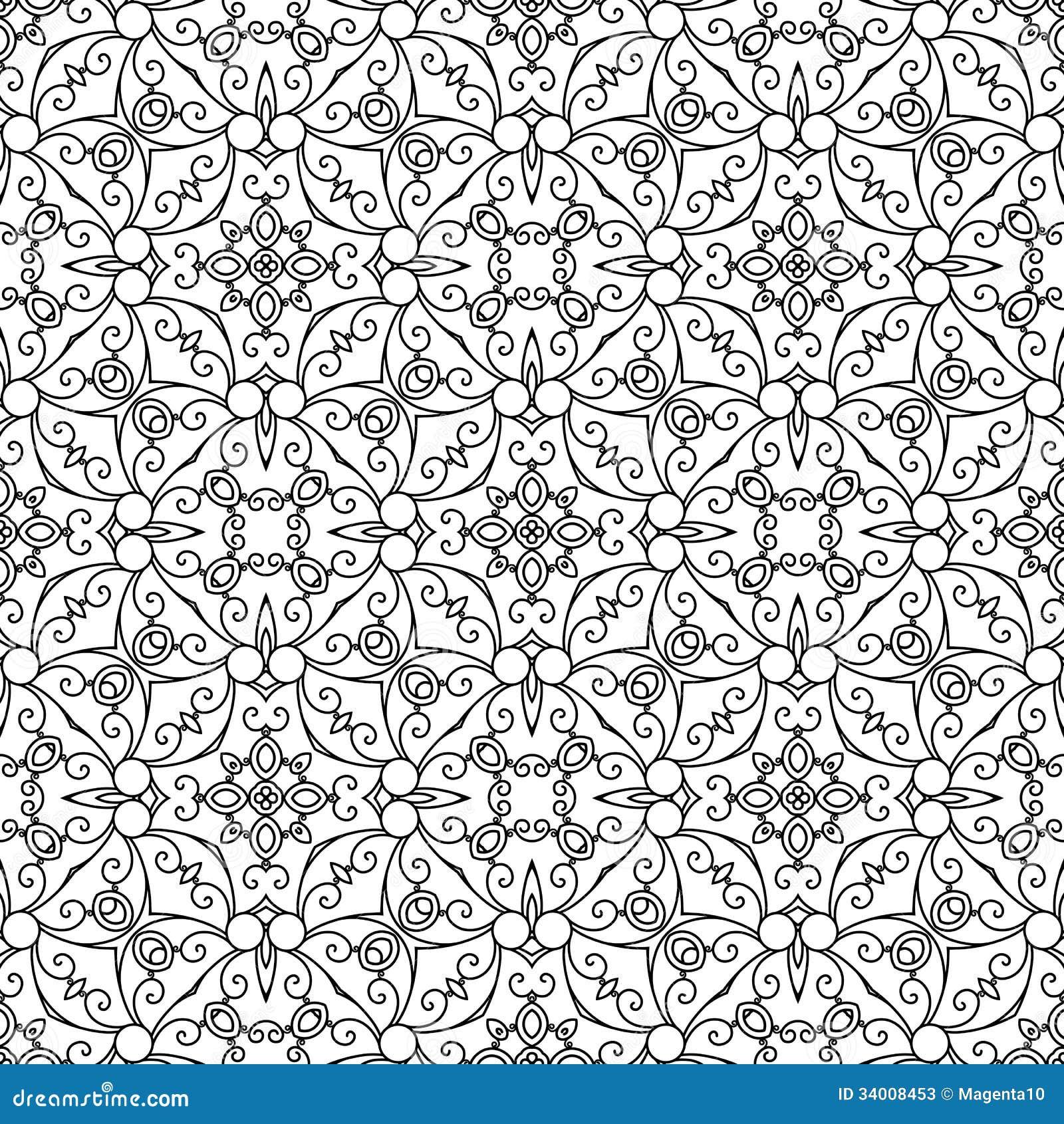 Der Zusammenfassung Muster Swirly Vektor Abbildung Illustration