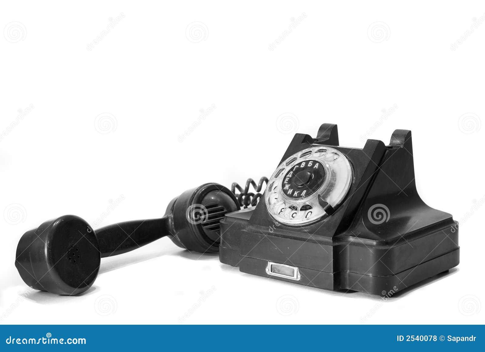 Koppla in antik telefon