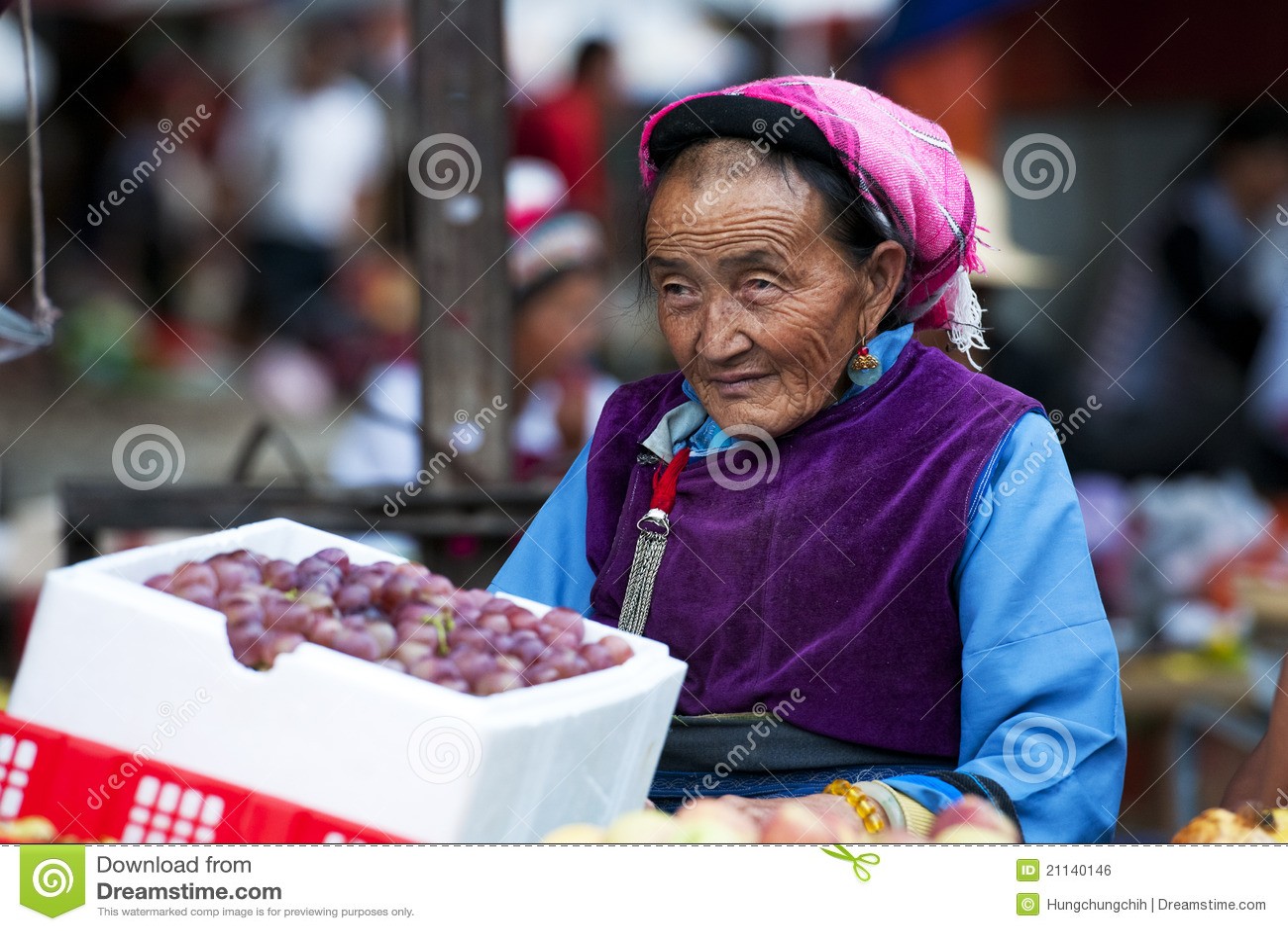 Deras kinesisk sell för bondegodamarknad