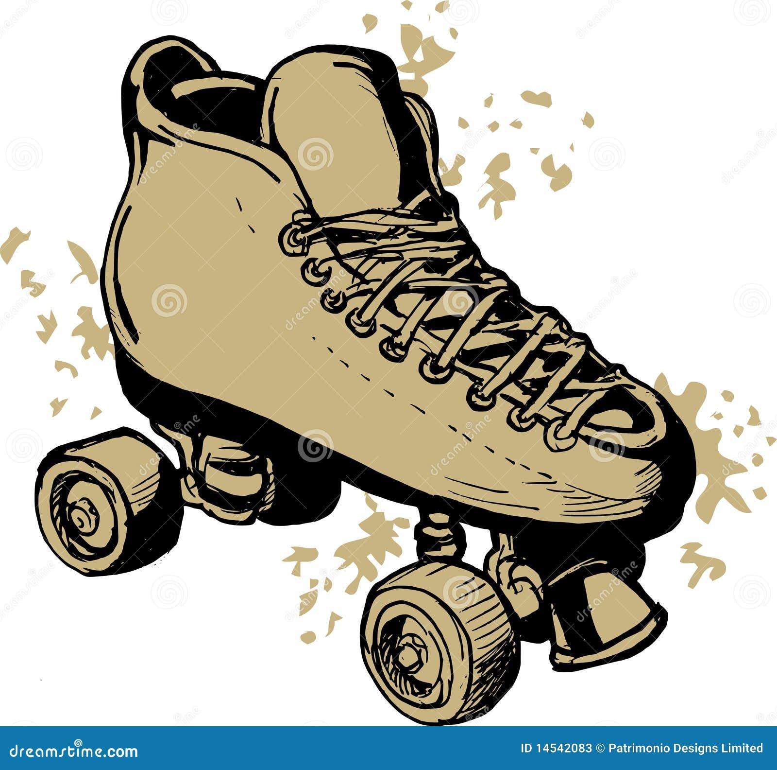 Roller skates for roller derby - Derby Roller Skates Drawing Stock Photos