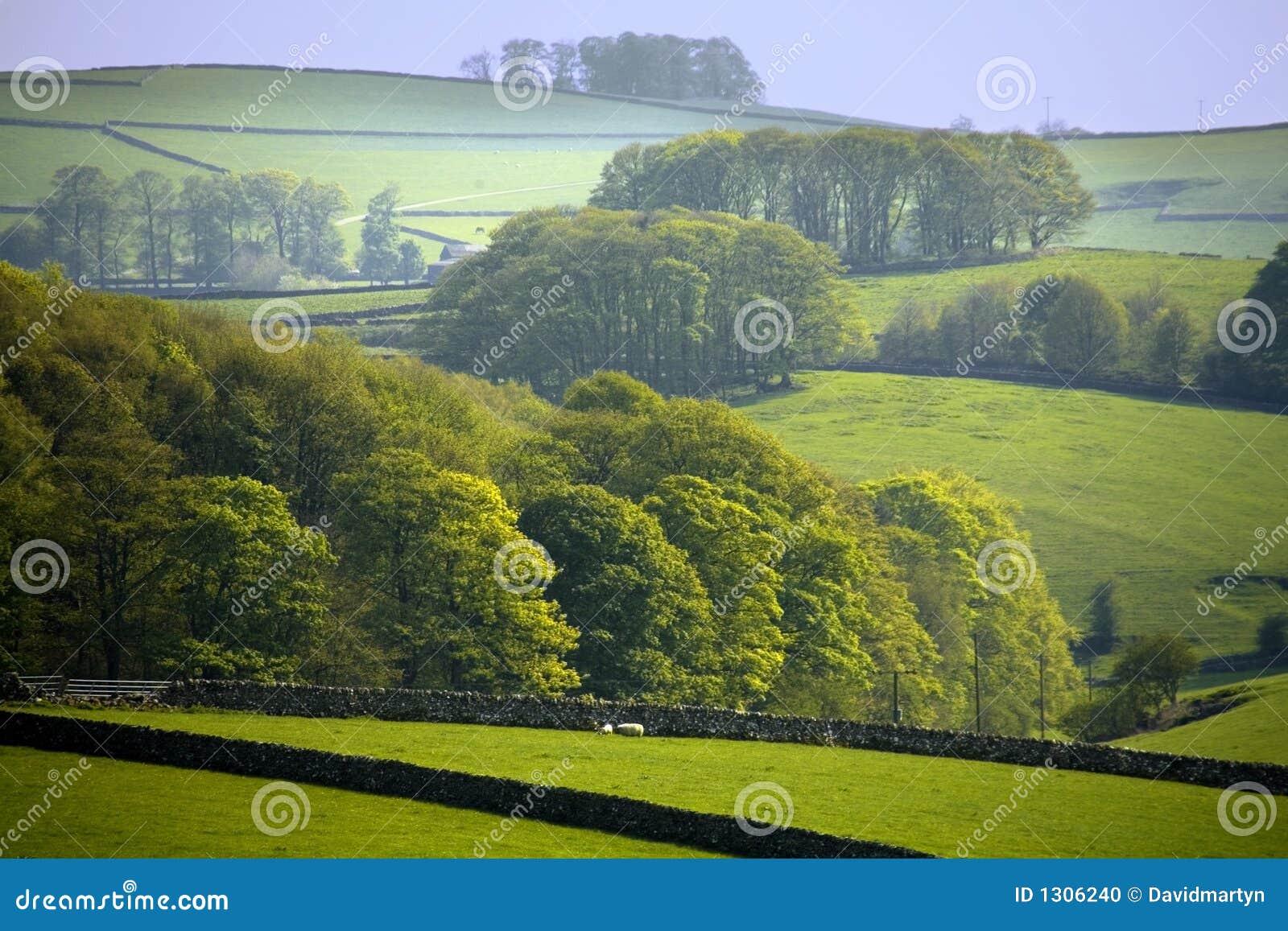 Derbyshire England parku narodowego szczyt komunalne