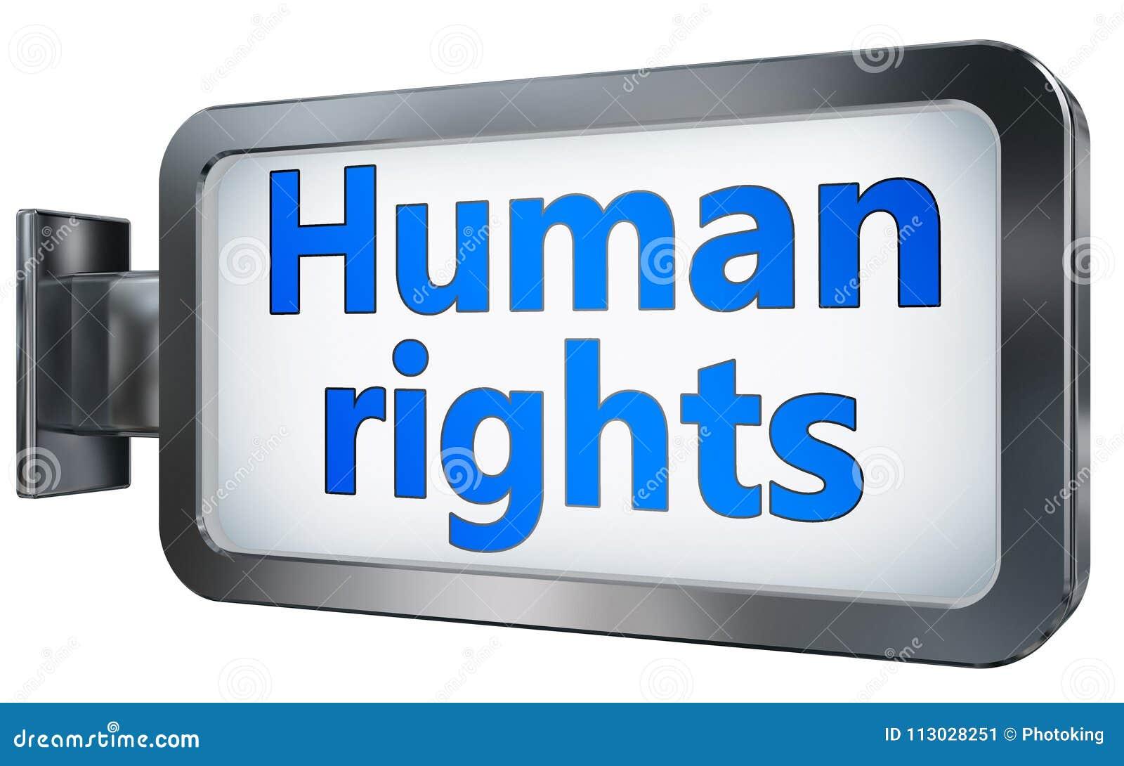 Derechos humanos en fondo de la cartelera