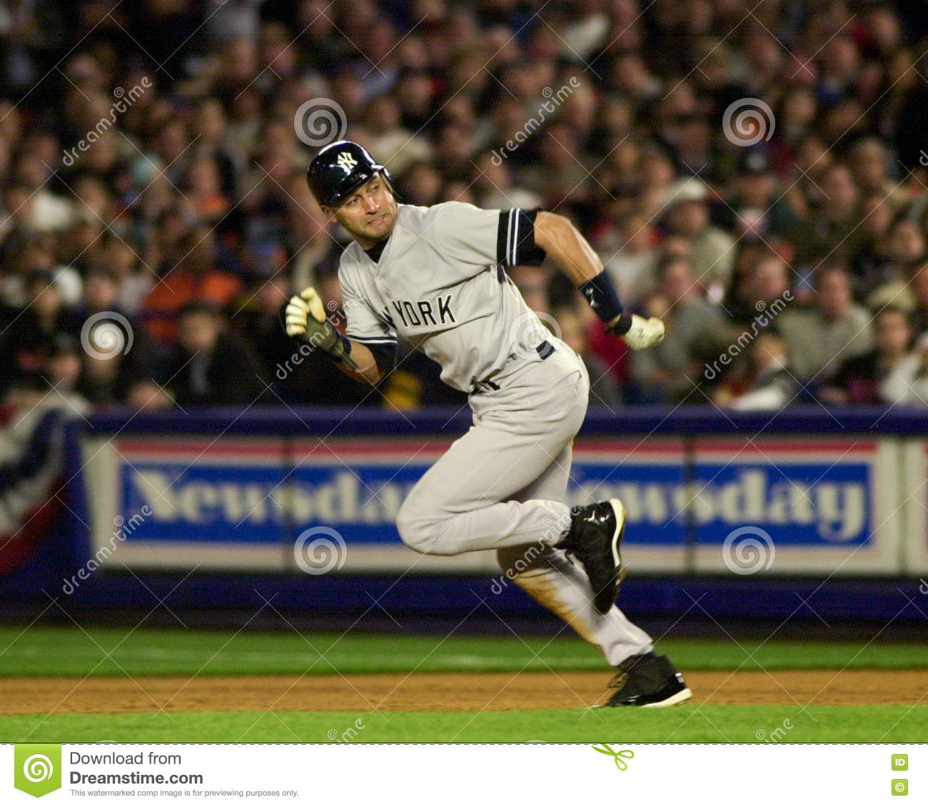 a55cf019d New York Yankees SS Derek Jeter in 2000 World Series action. (Image taken  from a color slide.)
