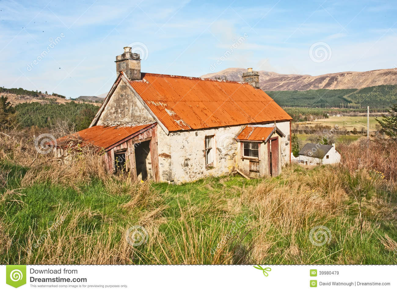 Derelict Cottage With Iron Roof Stock Photo - Image: 39980479