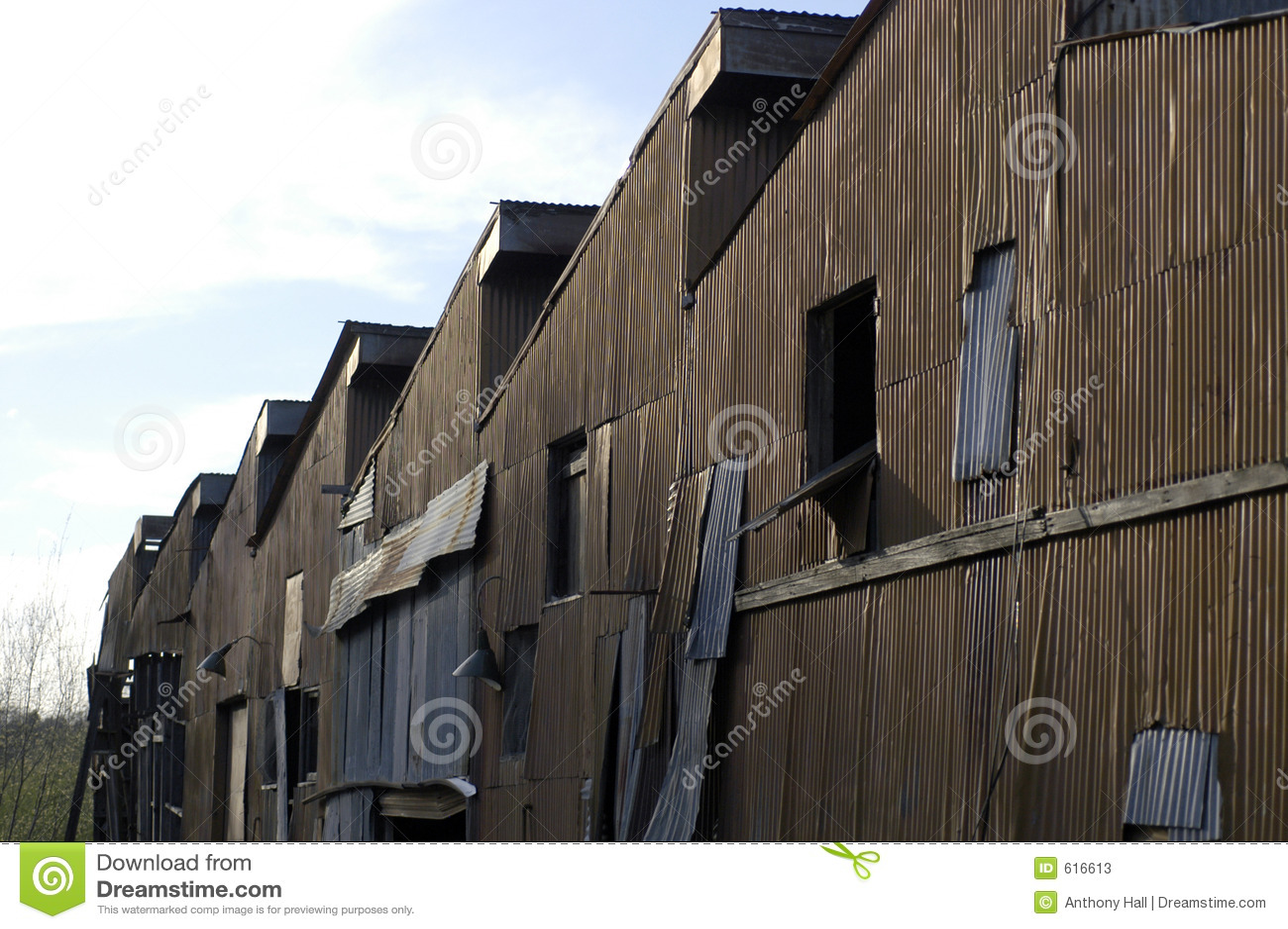 Derelict Factory Buildings Stock Photos Image 616613