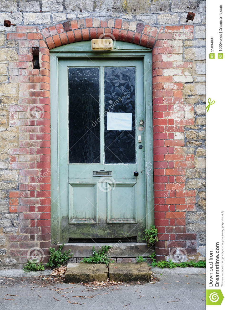 Derelict house front door royalty free stock photography for Classic house fronts