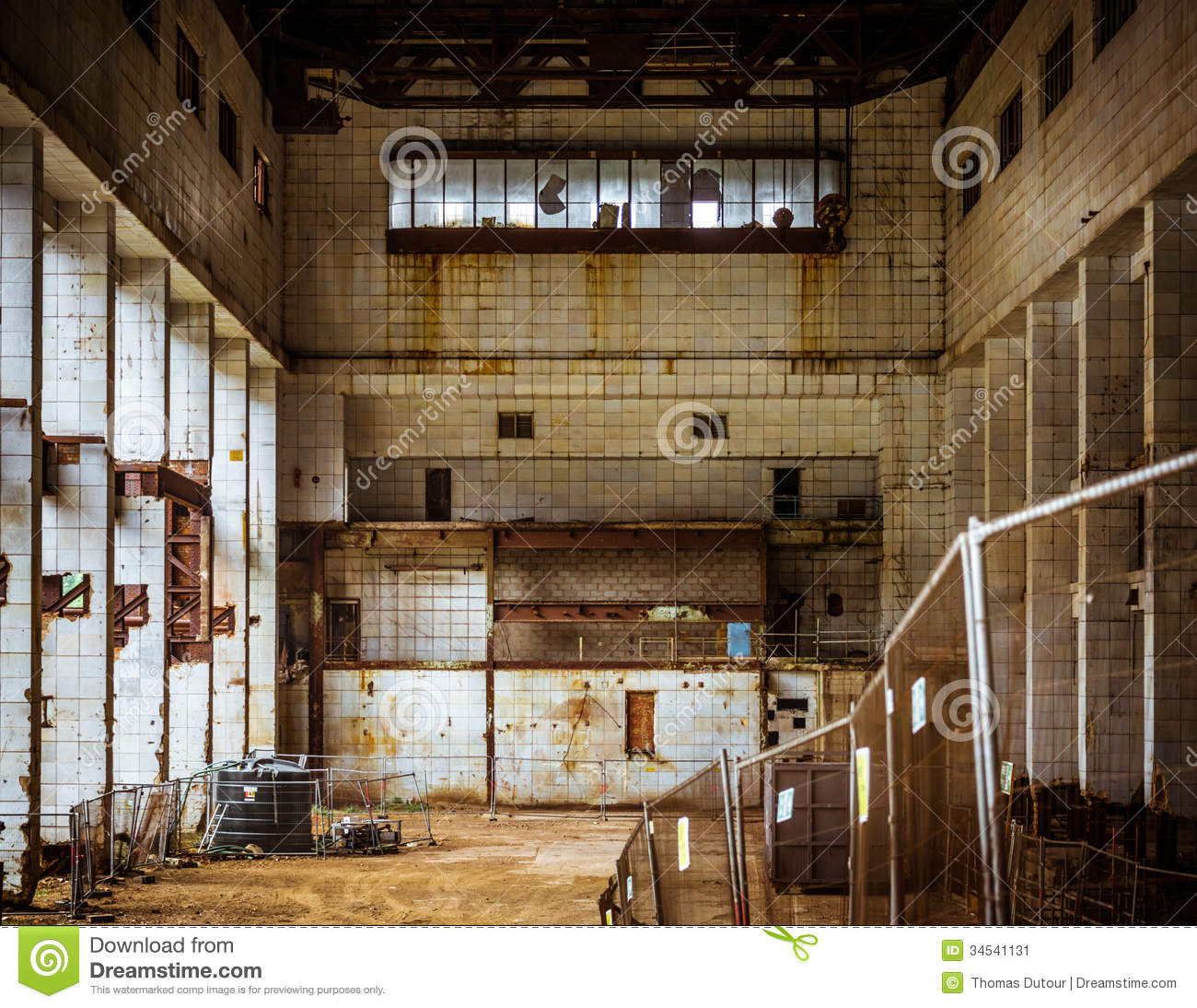 Derelict Industrial Interior Stock Image