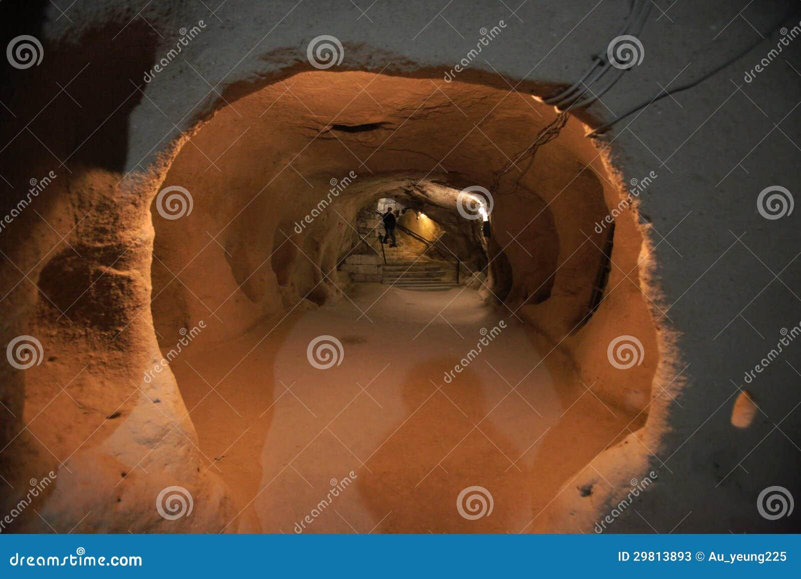 地下城市,对Cappadocia,土耳其的旅行