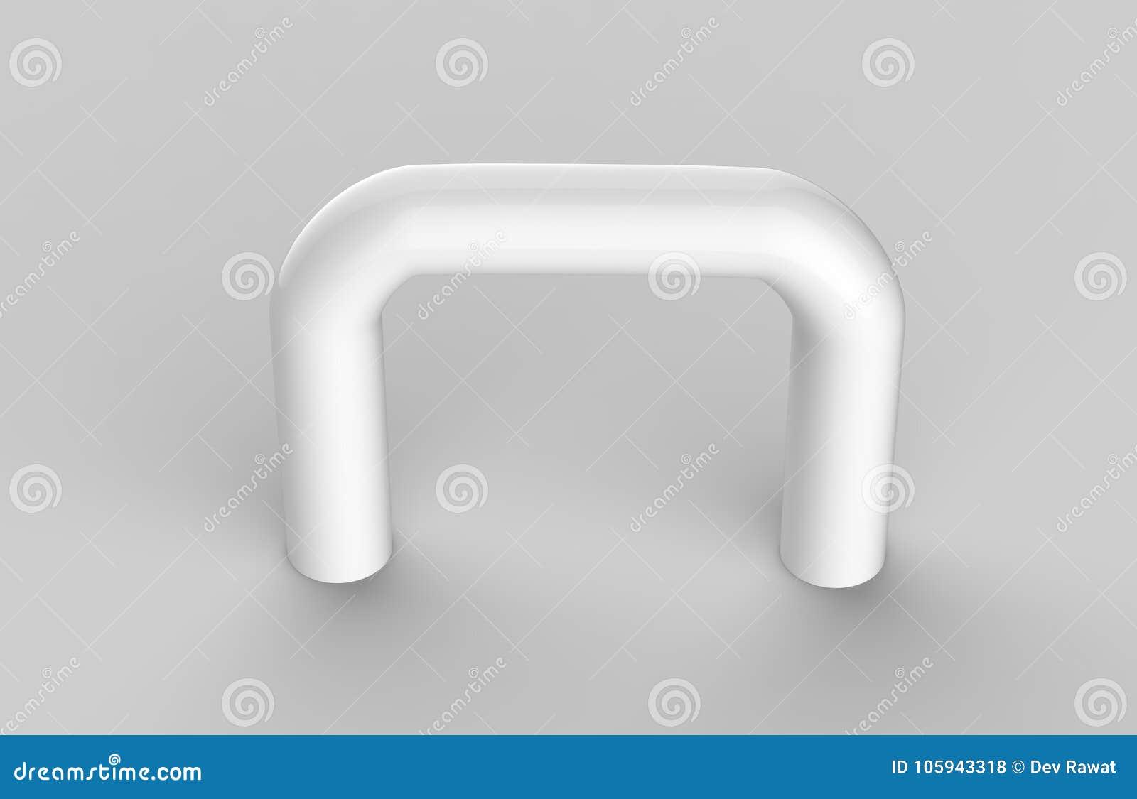Derisione corporativa del piatto del contrassegno dell ufficio interno di vetro trasparente in bianco sul modello, illustrazione