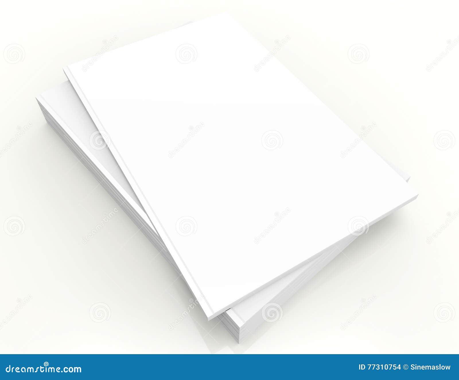 Derisione quadrata in bianco del catalogo su su bianco