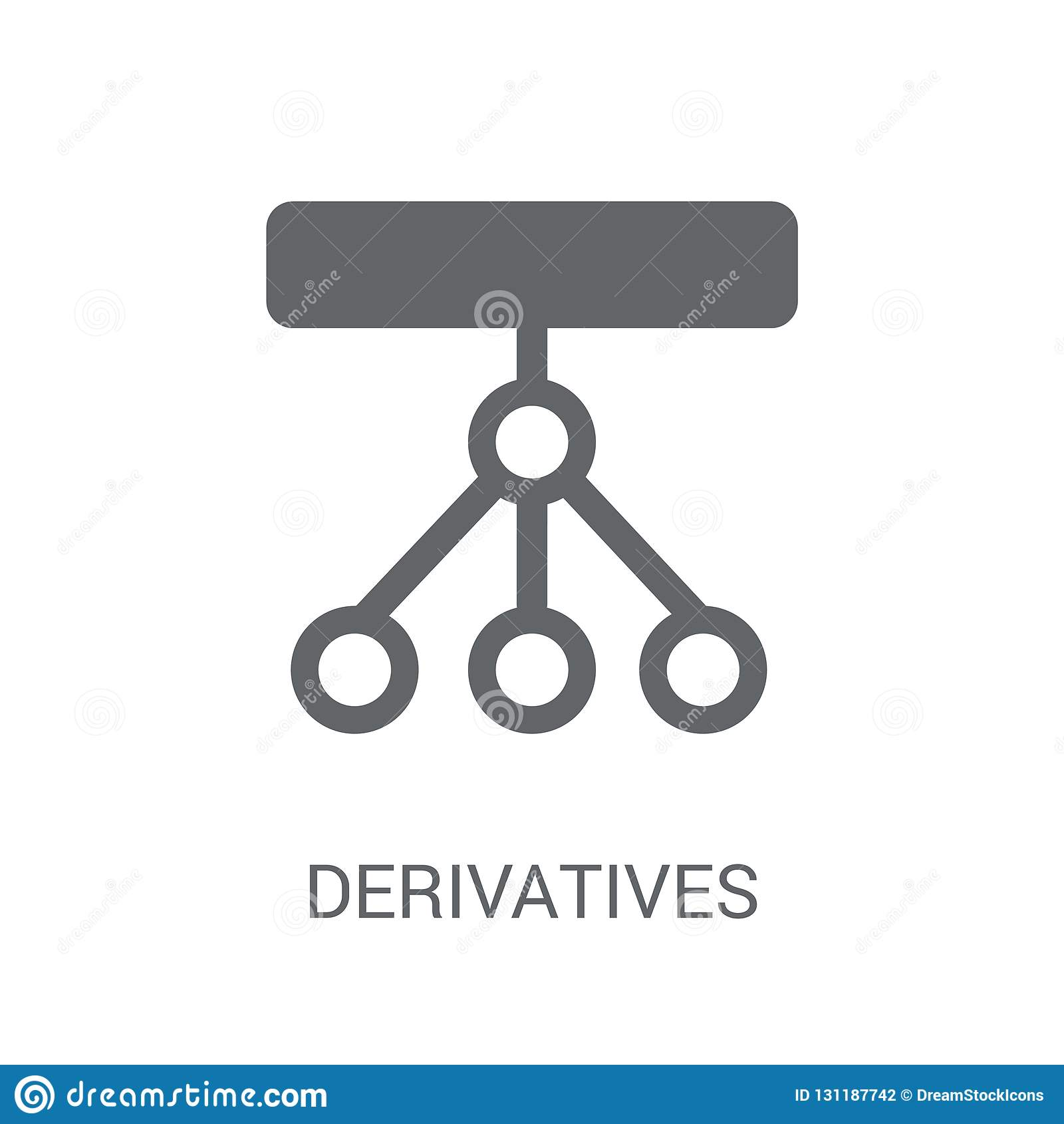 Derivatives Icon  Trendy Derivatives Logo Concept On White