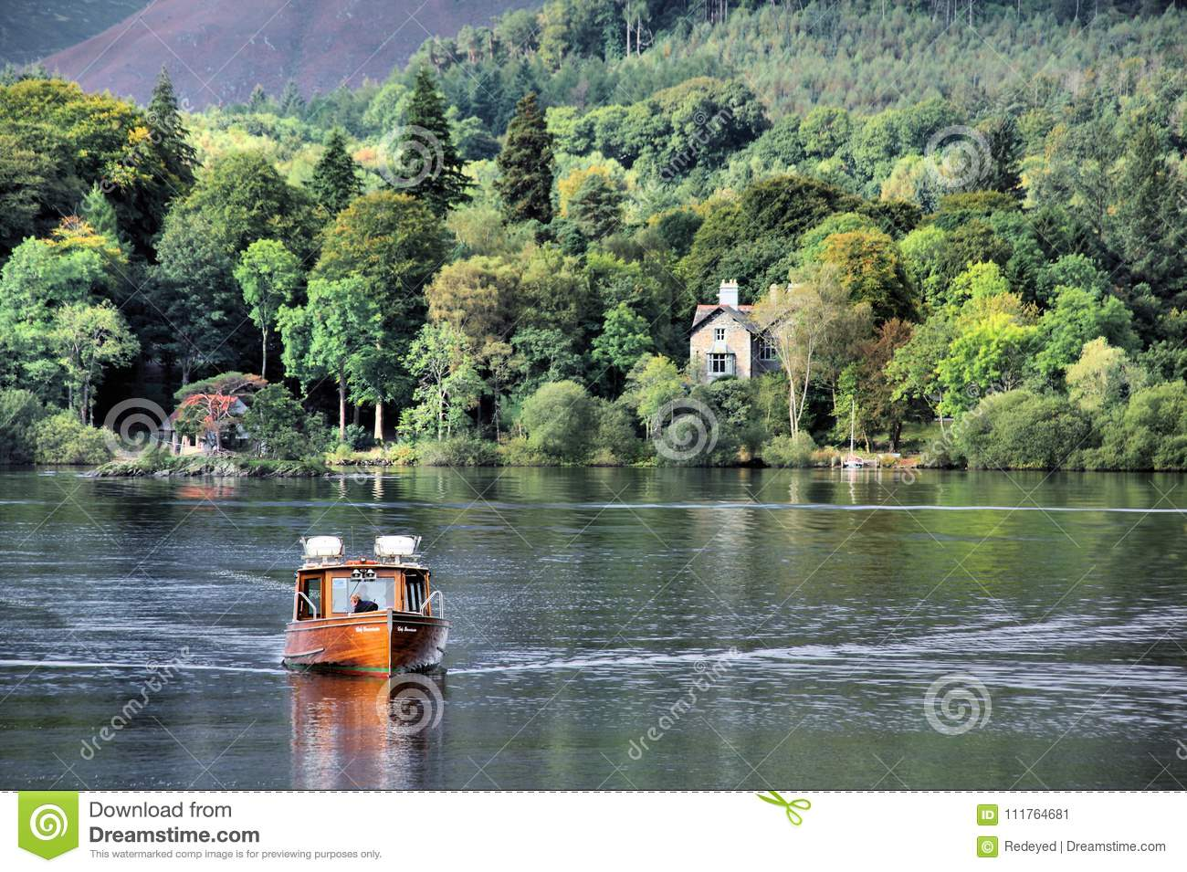 Derwentwater Ferry at Keswick in the Lakes District