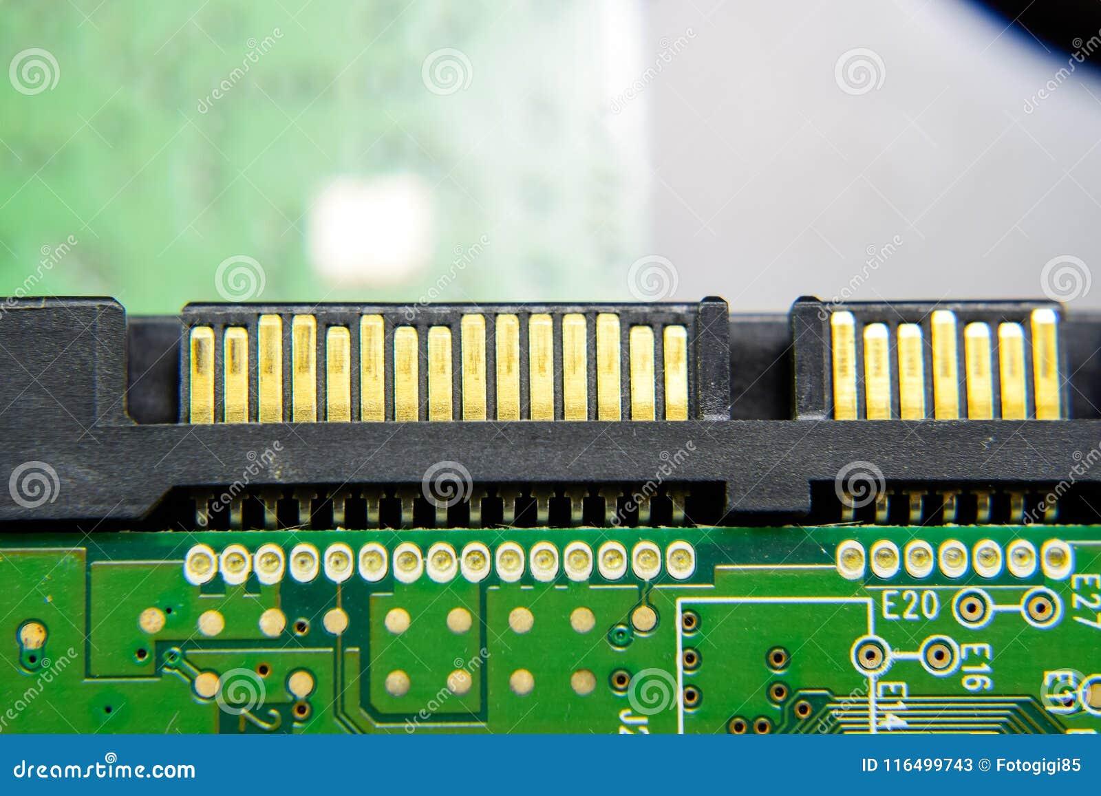 Des Festplattenlaufwerk-Verbindungsstücks Sata elektronisches Brett mit elektrischen Komponenten Elektronik der Computerausrüstun