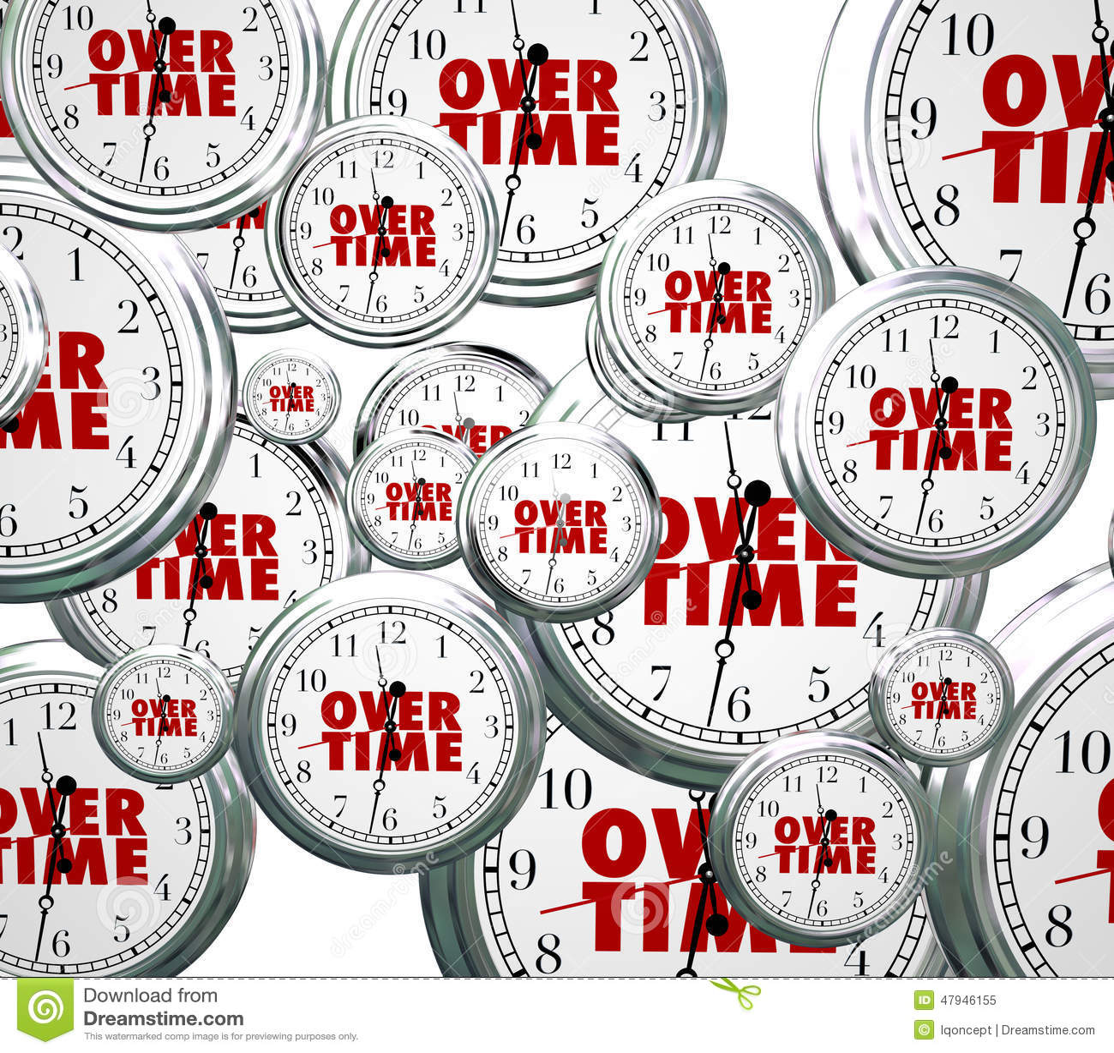 Des heures supplémentaires horloges de Word volant par le défunt travail de travail supplémentaire par frais supplémentaires