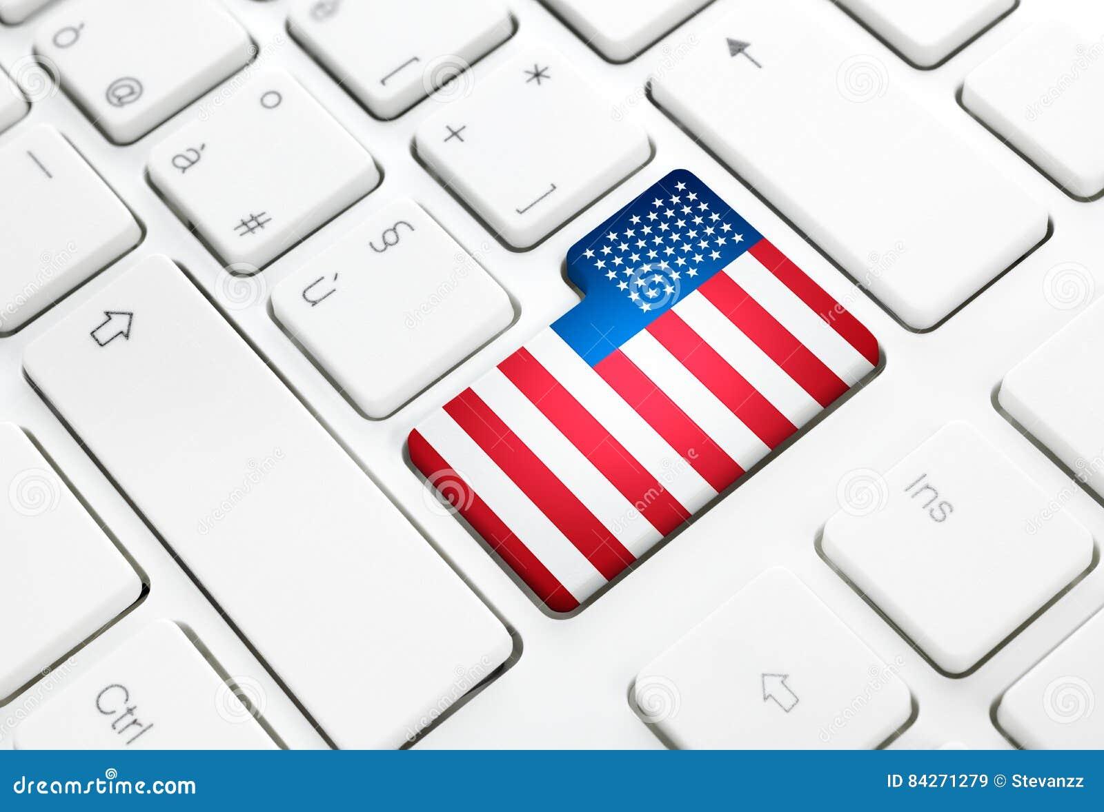Des Netzkonzeptes Der Vereinigten Staaten Von Amerika Oder Usa