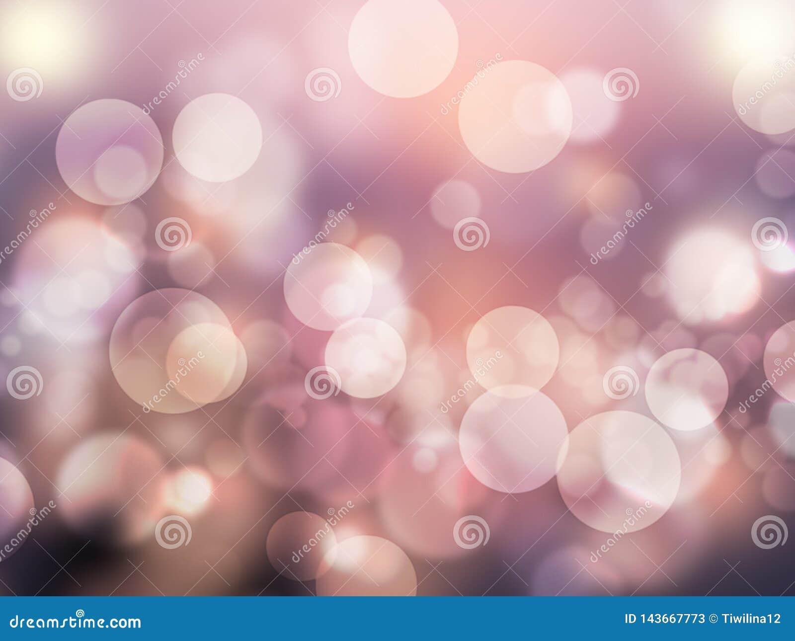 Des romantischen purpurroten glänzende und unscharfe Tapete Zusammenfassungs-Hintergrundes abstrakten bokeh Effektes
