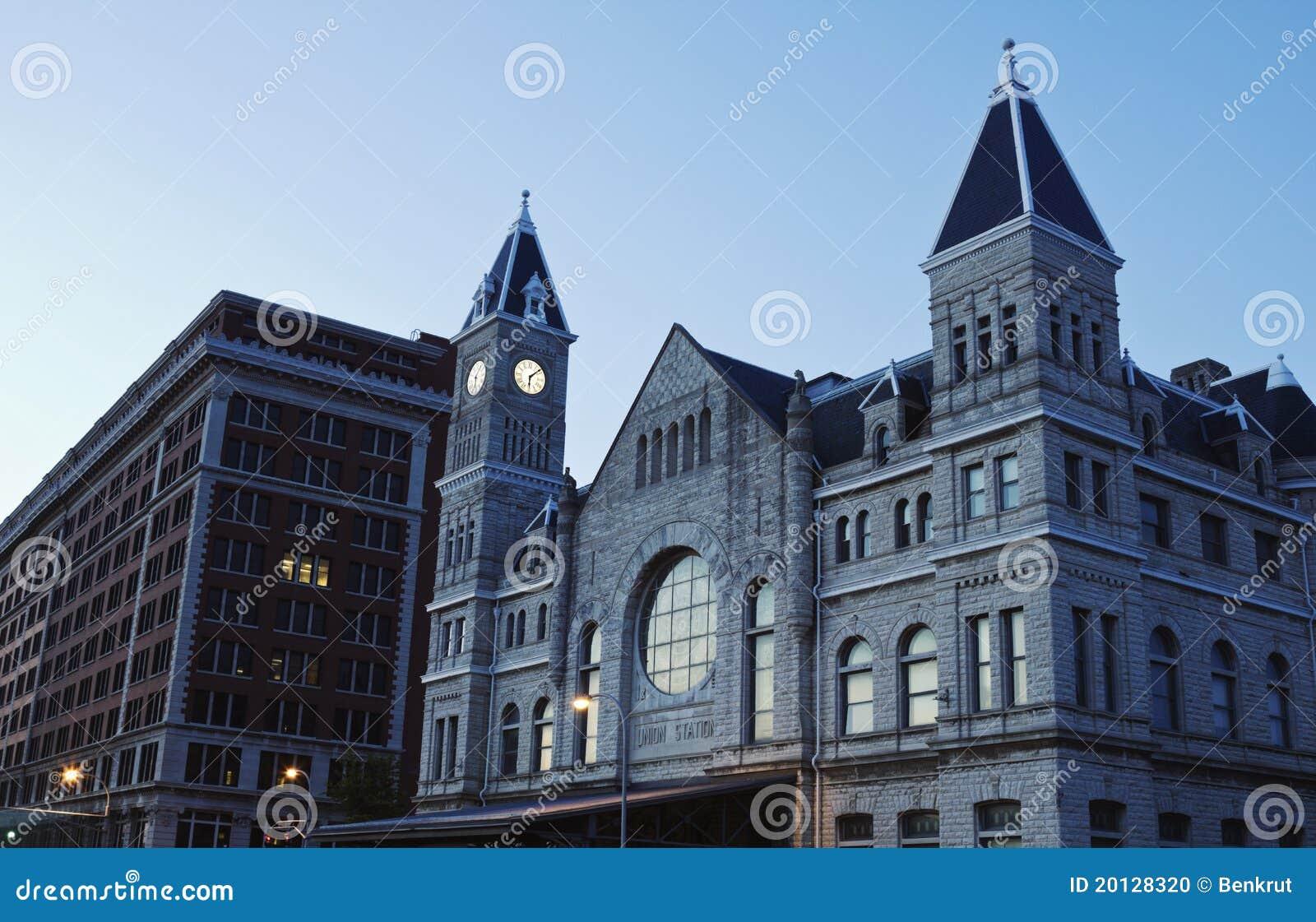 Des syndicats de gare le centre ville dedans de Louisville