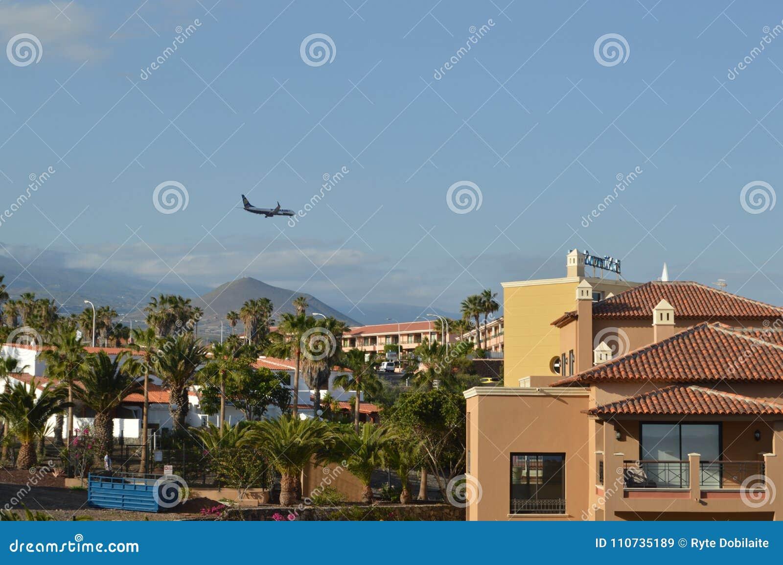 Desantowy samolot w Tenerife