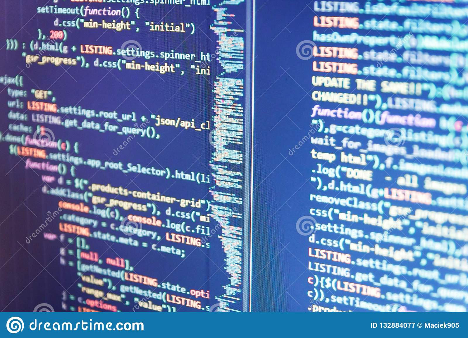 Desarrollo del PHP, código del sitio del software Proceso gráfico del software del extracto del elemento de la tecnología del con