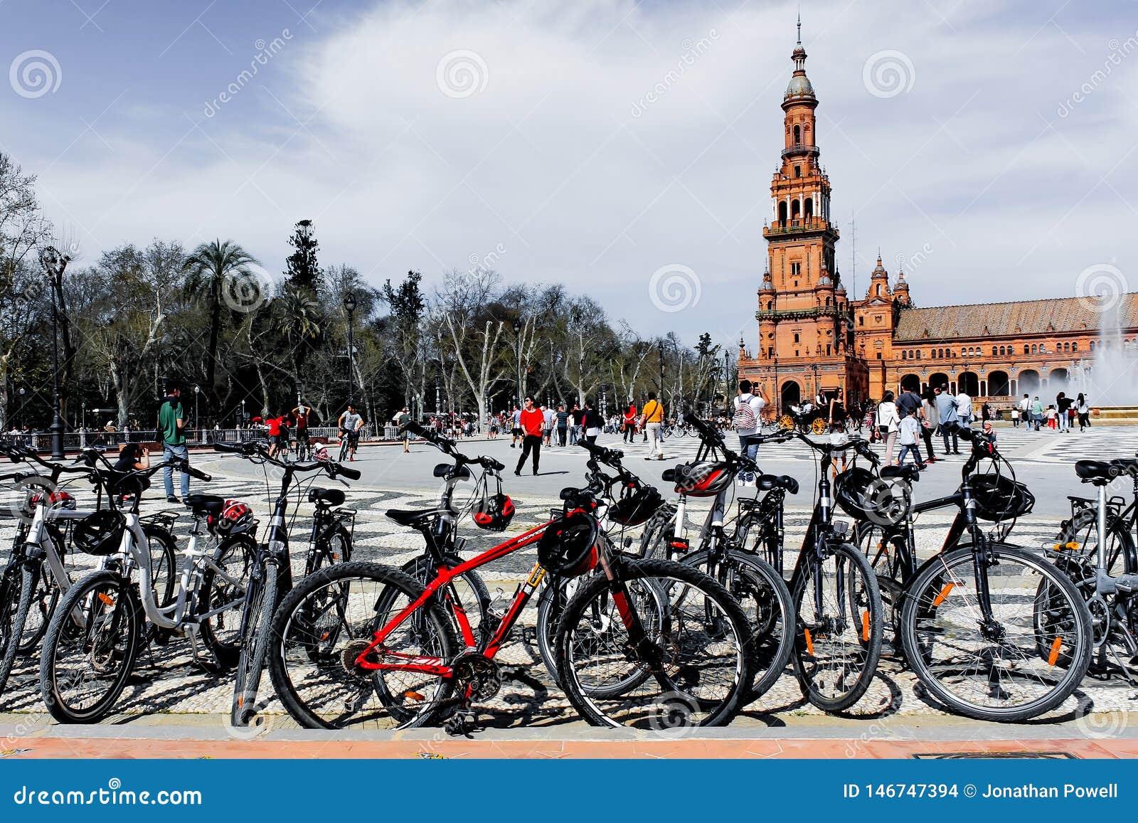 Desaturated Ansicht der Piazzas de España, Sevilla, Spanien