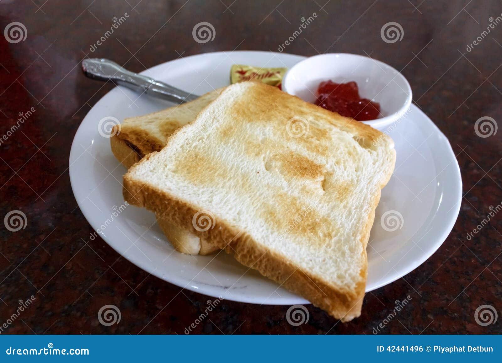 Desayuno de la tostada