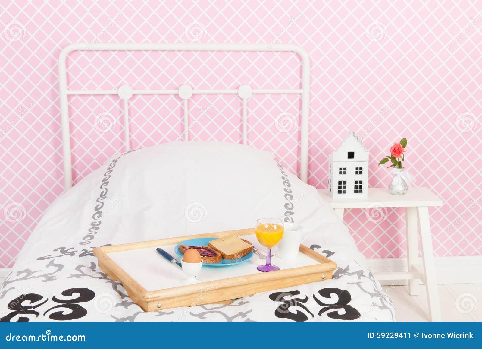 Download Desayuno en cama imagen de archivo. Imagen de café, anaranjado - 59229411