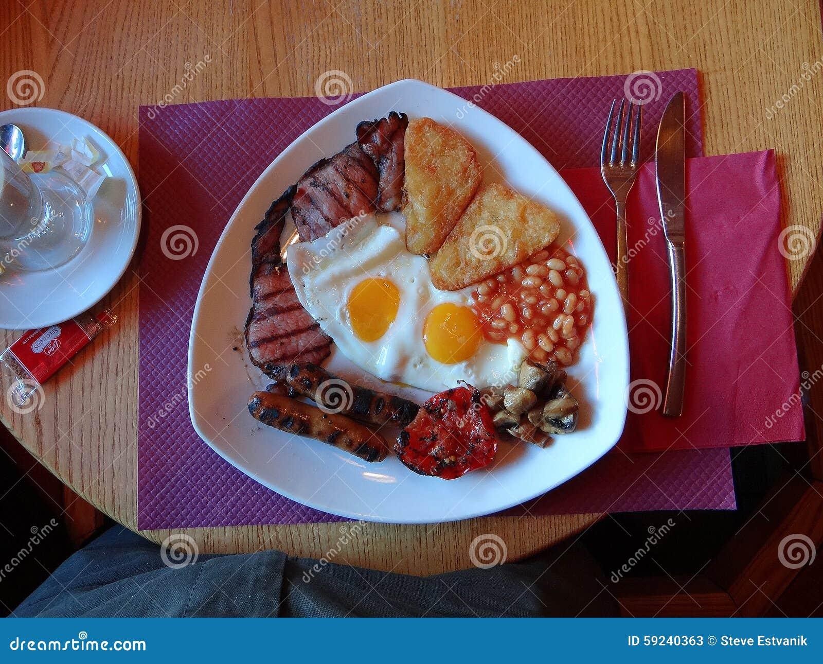 Download Desayuno inglés lleno imagen de archivo. Imagen de tostada - 59240363