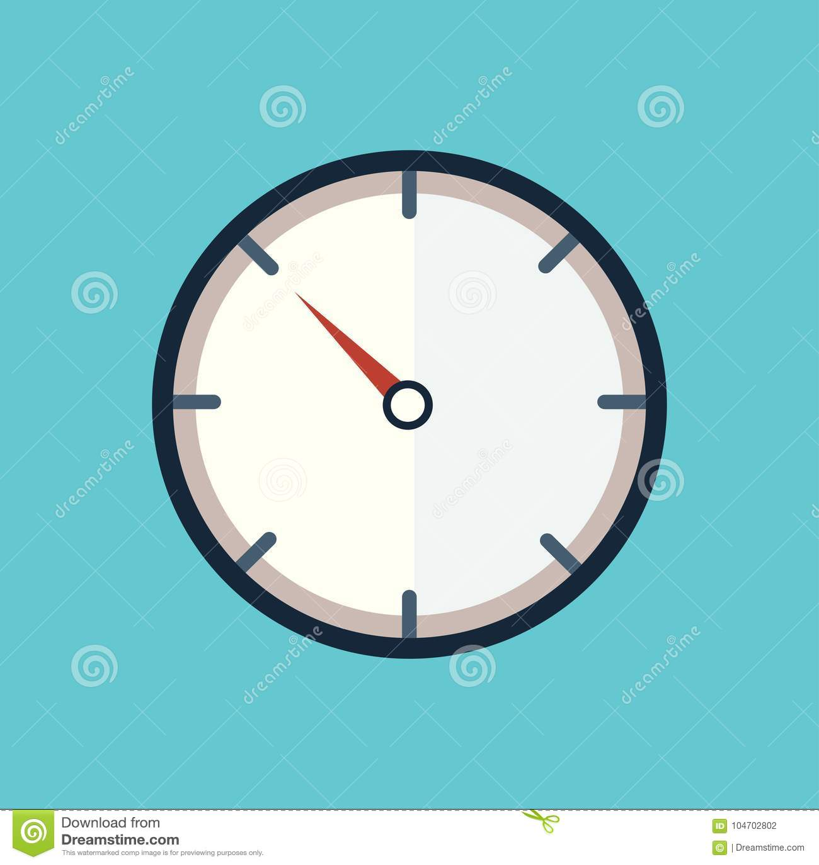 Descanso del extracto del icono del reloj