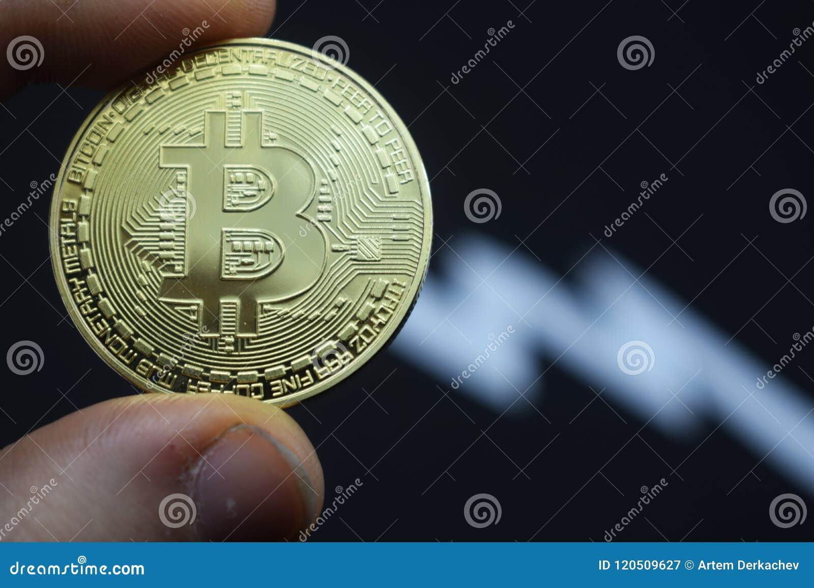 Descenso precipitado en bitcoin en el precio, depreciación