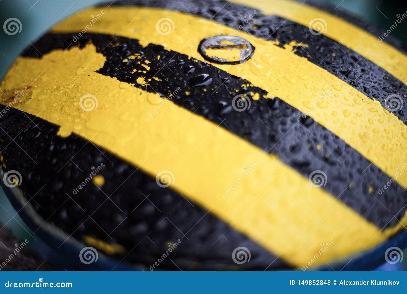 Descensos del agua en barra que amarra amarilla negra blur Textura Fondo
