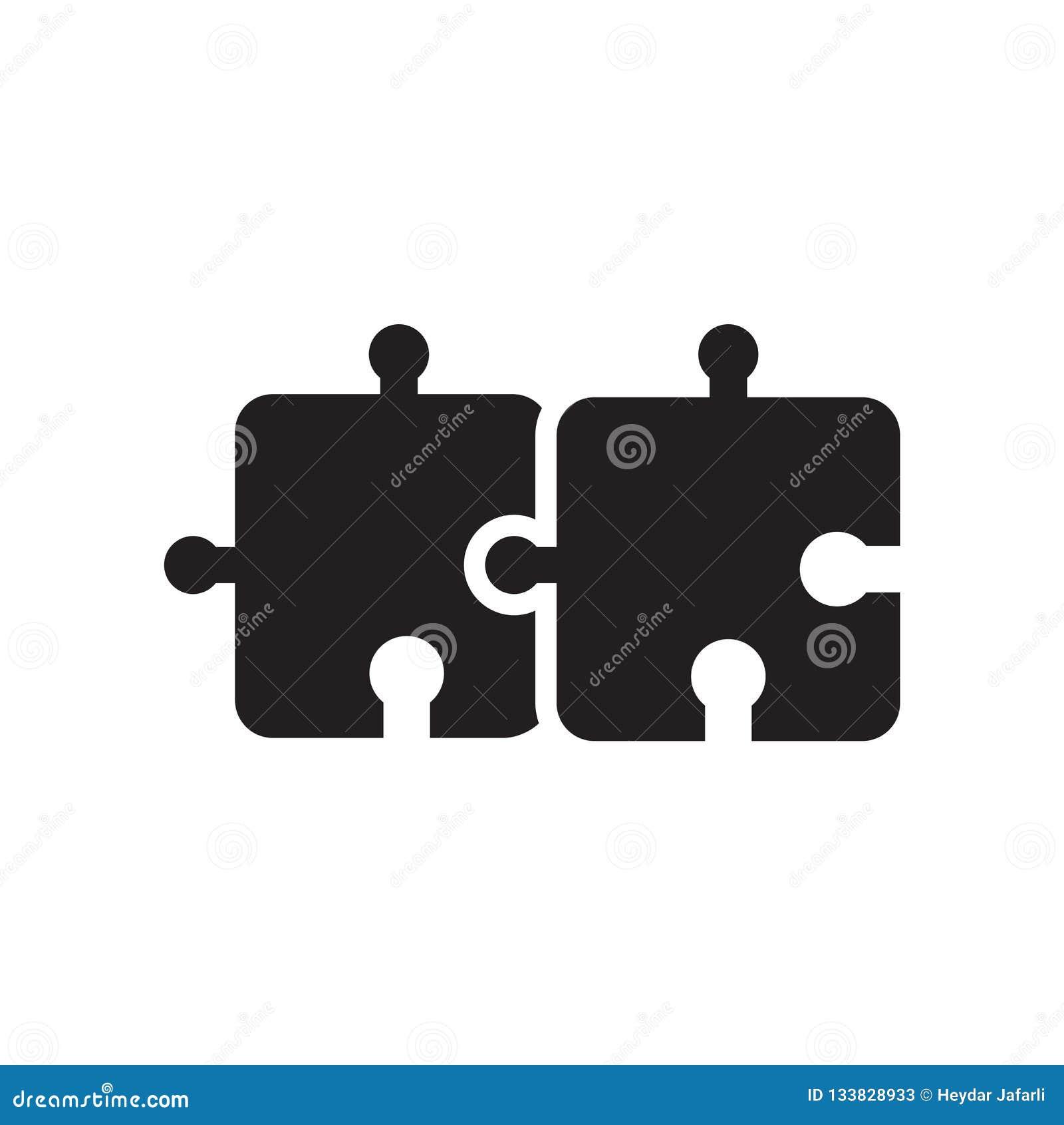 Desconcierte la muestra y el símbolo del vector del icono del pedazo aislados en el backg blanco
