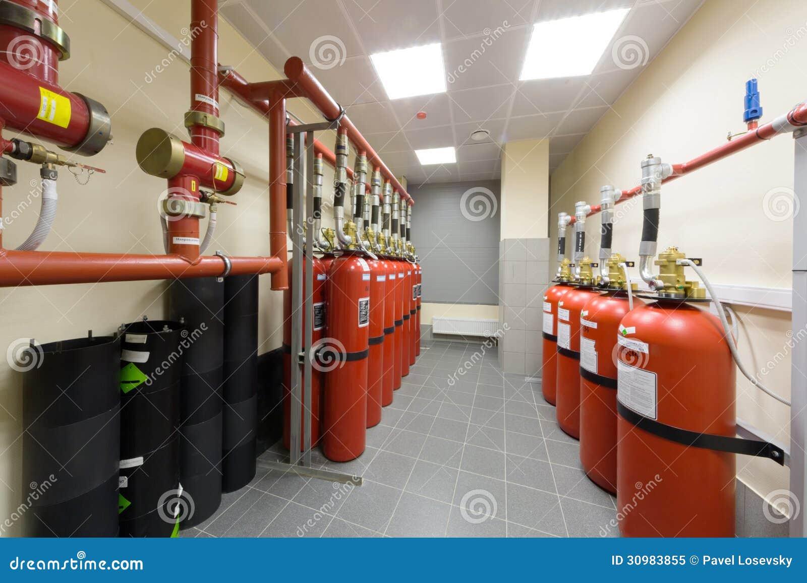 Descripción del sistema extintor industrial.