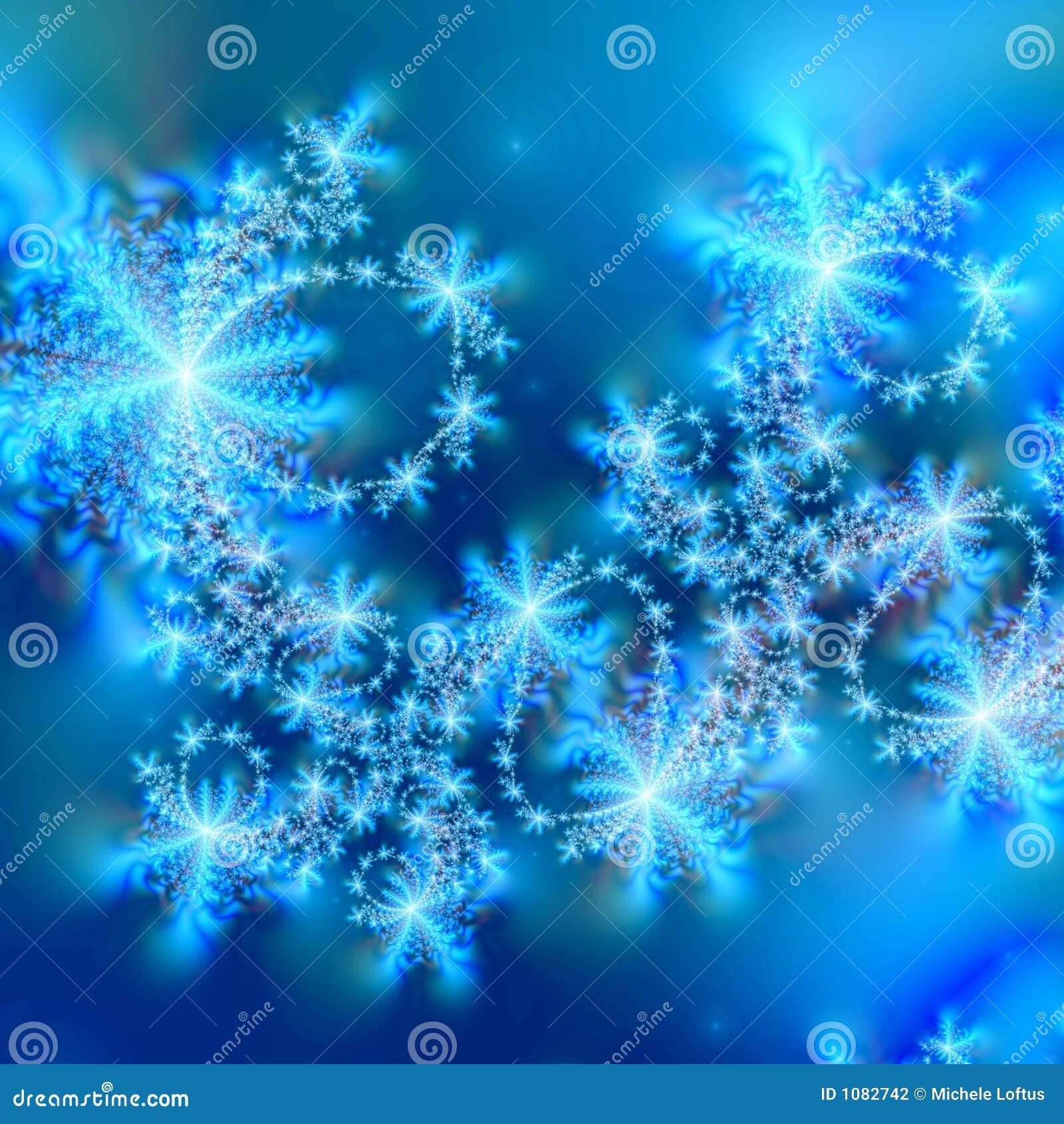 Descripteur abstrait de fond de flocon de neige
