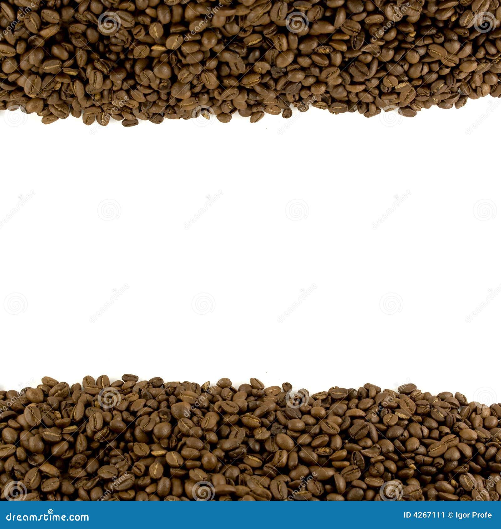 Descripteur avec l en-tête et le titre de bas de page de café