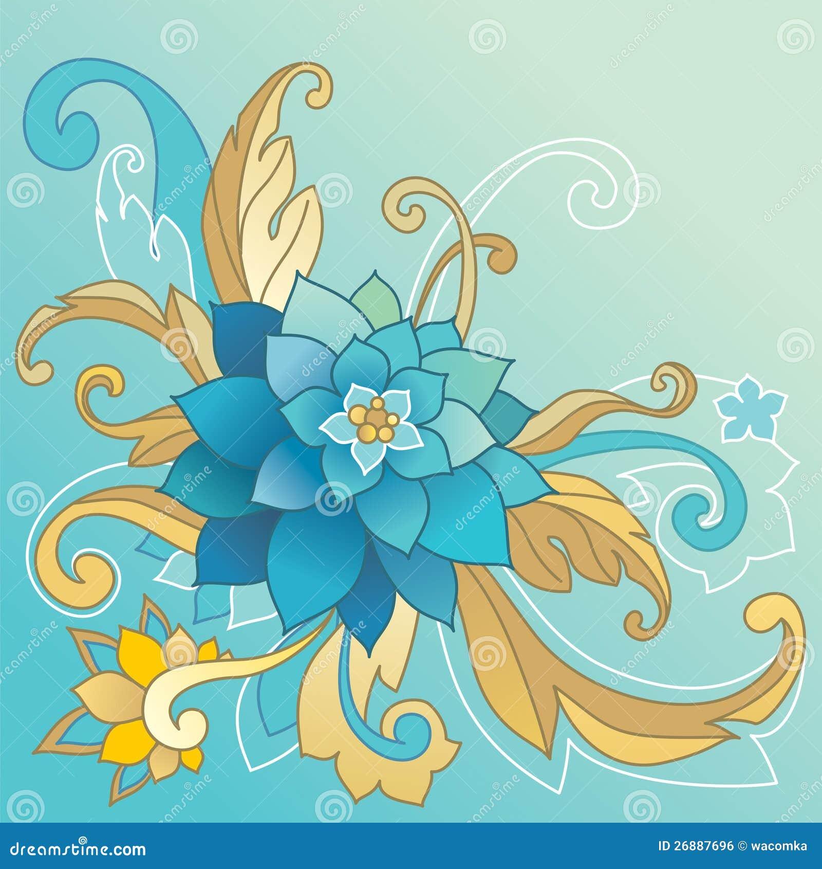 Descripteur créateur avec la fleur et les lames