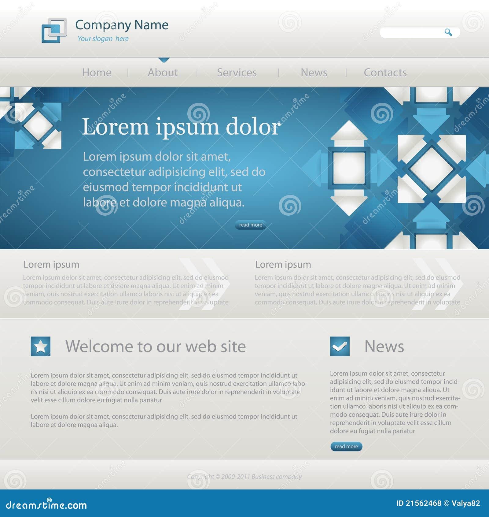 Createur De Site Internet descripteur créateur de site web bleu illustration de