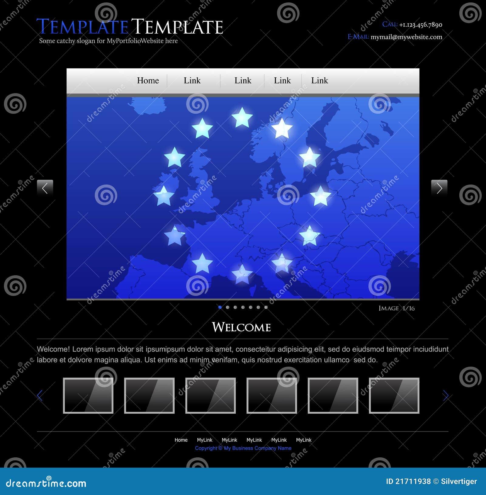 Descripteur de conception de site Web d affaires - disposition editable