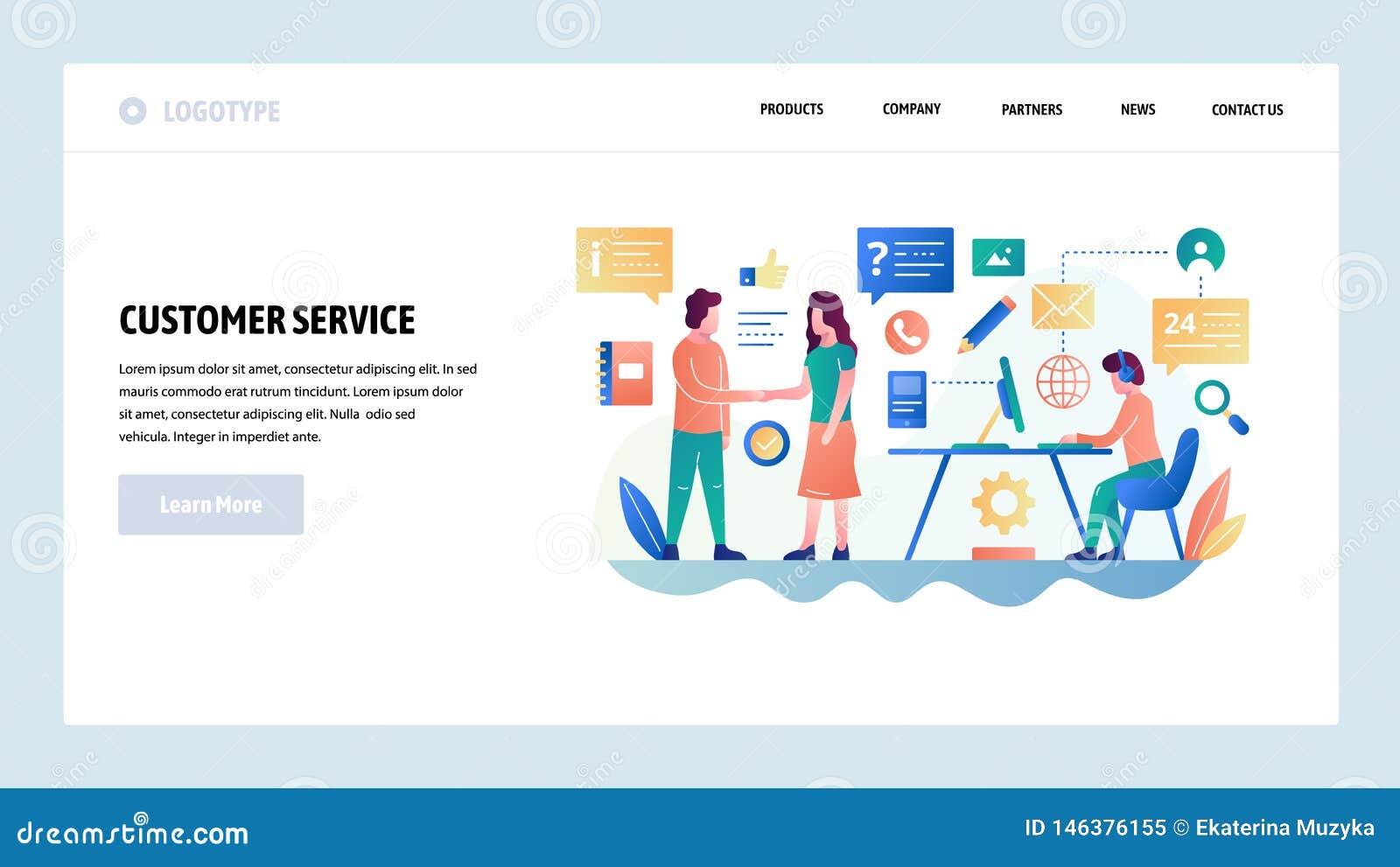 Descripteur de conception de site Web de vecteur Service à la clientèle et causerie en ligne de soutien, helpdesk, ventes Concept