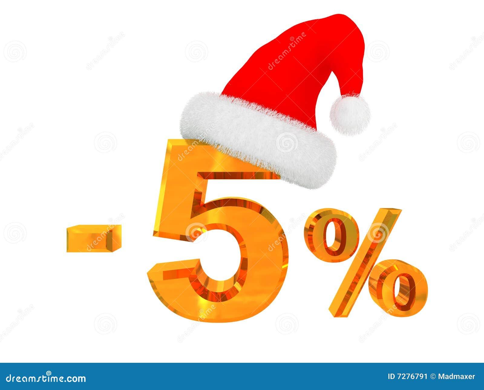 Descuento del 5 por ciento